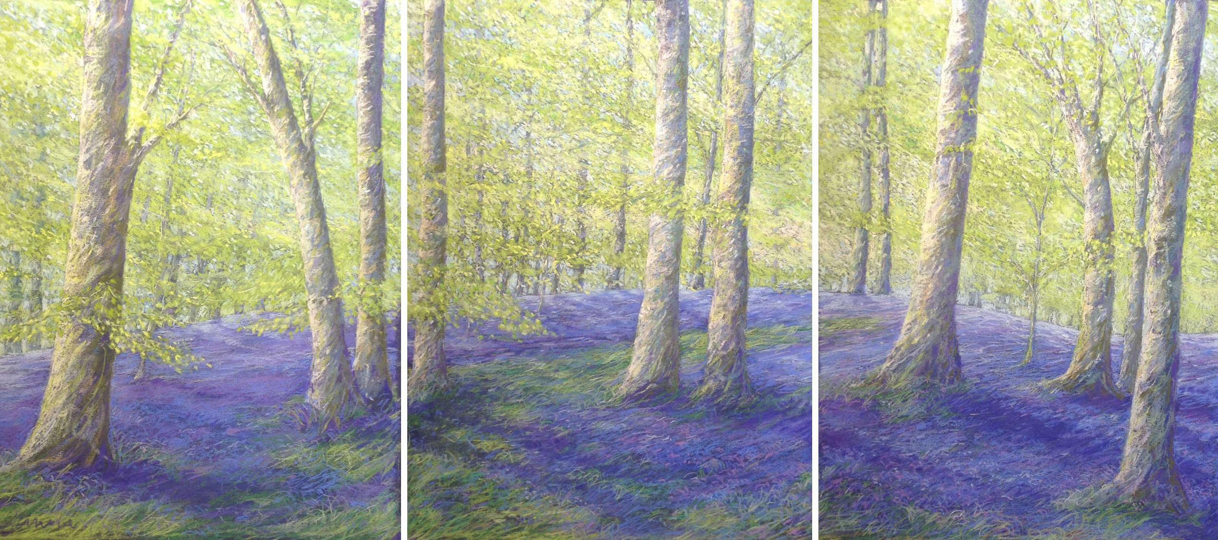 Spring Woods Triptych.jpg