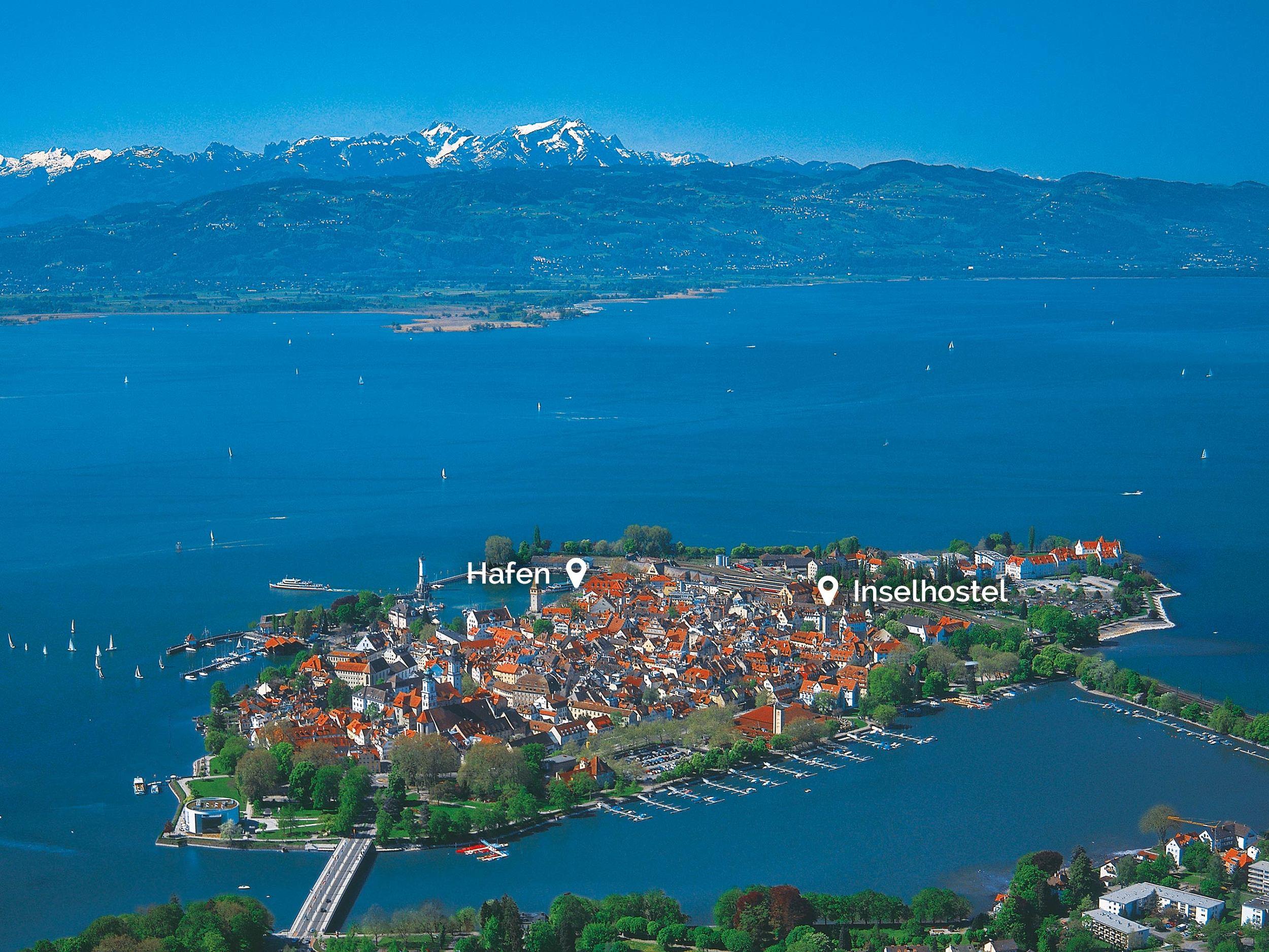 Insel Hostel Lindau im Bodensee - beste Lage auf der Insel