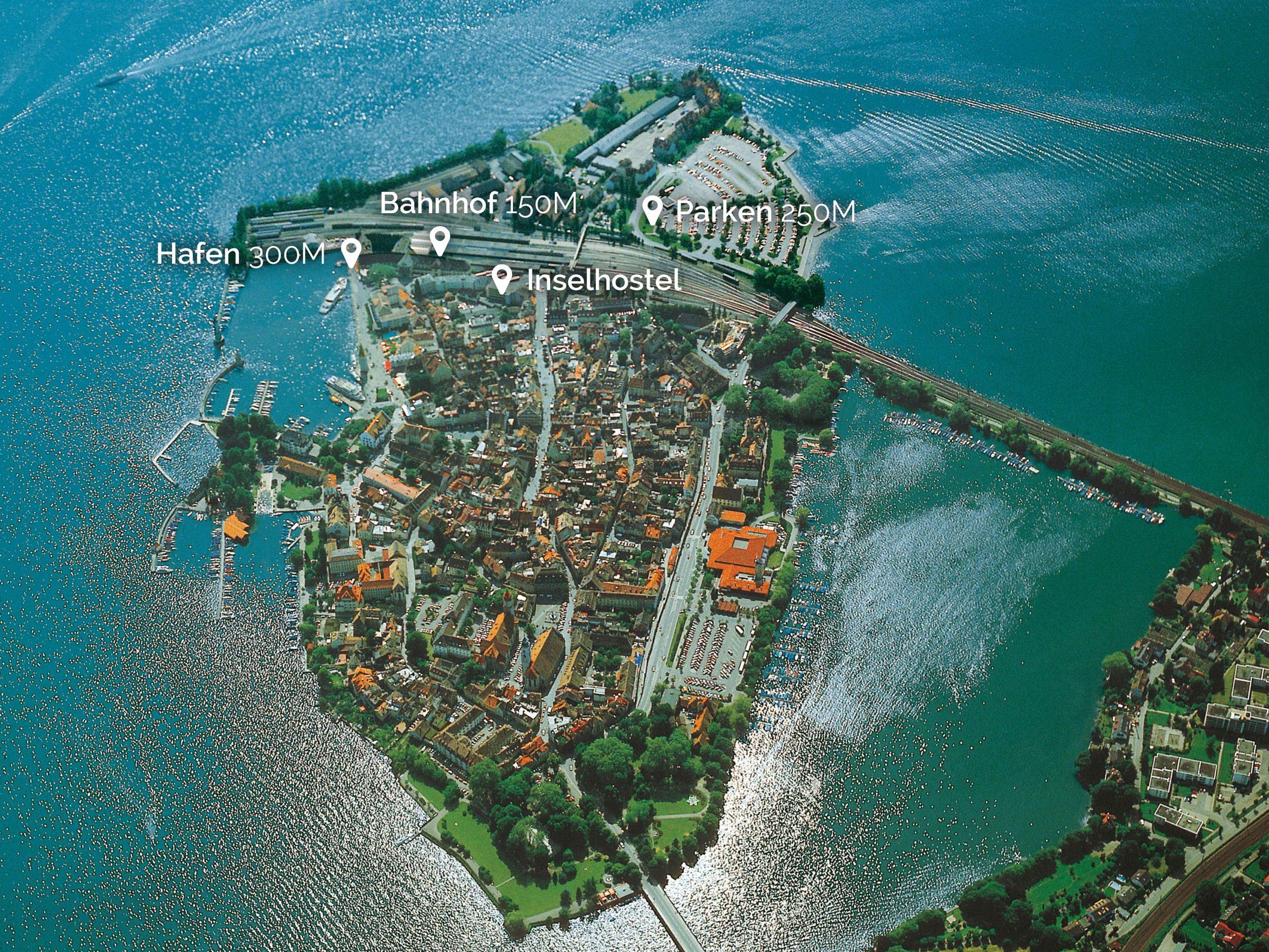 Insel Hostel Lindau - Top Lage mitten im Bodensee