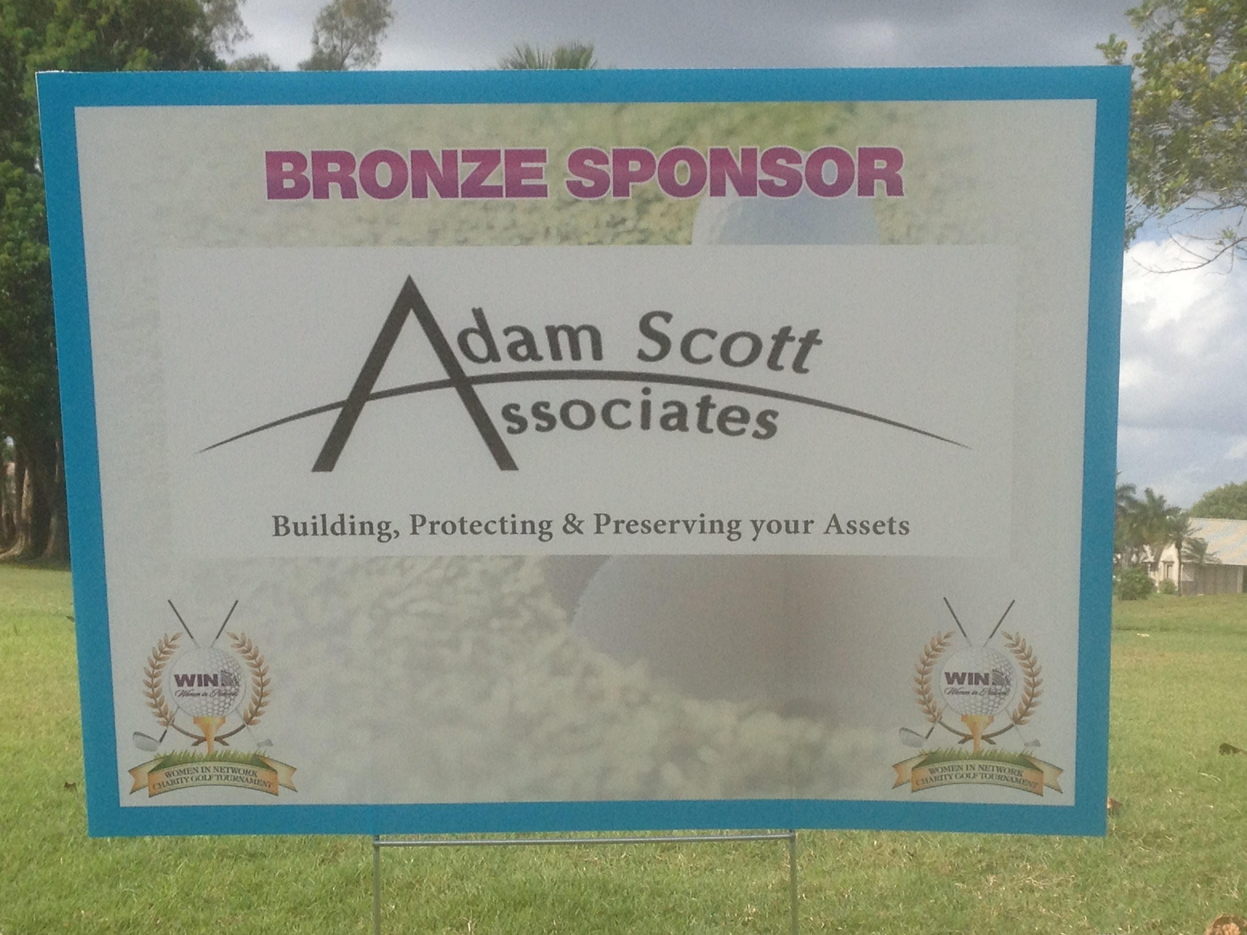 Adam enjoys supporting local events