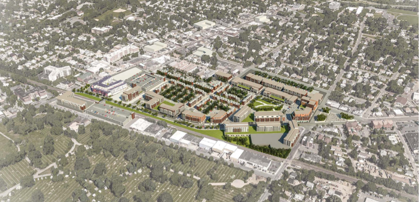 Conceptual Vision of Downtown Westbury Following the Rezoning (FXFOWLE)