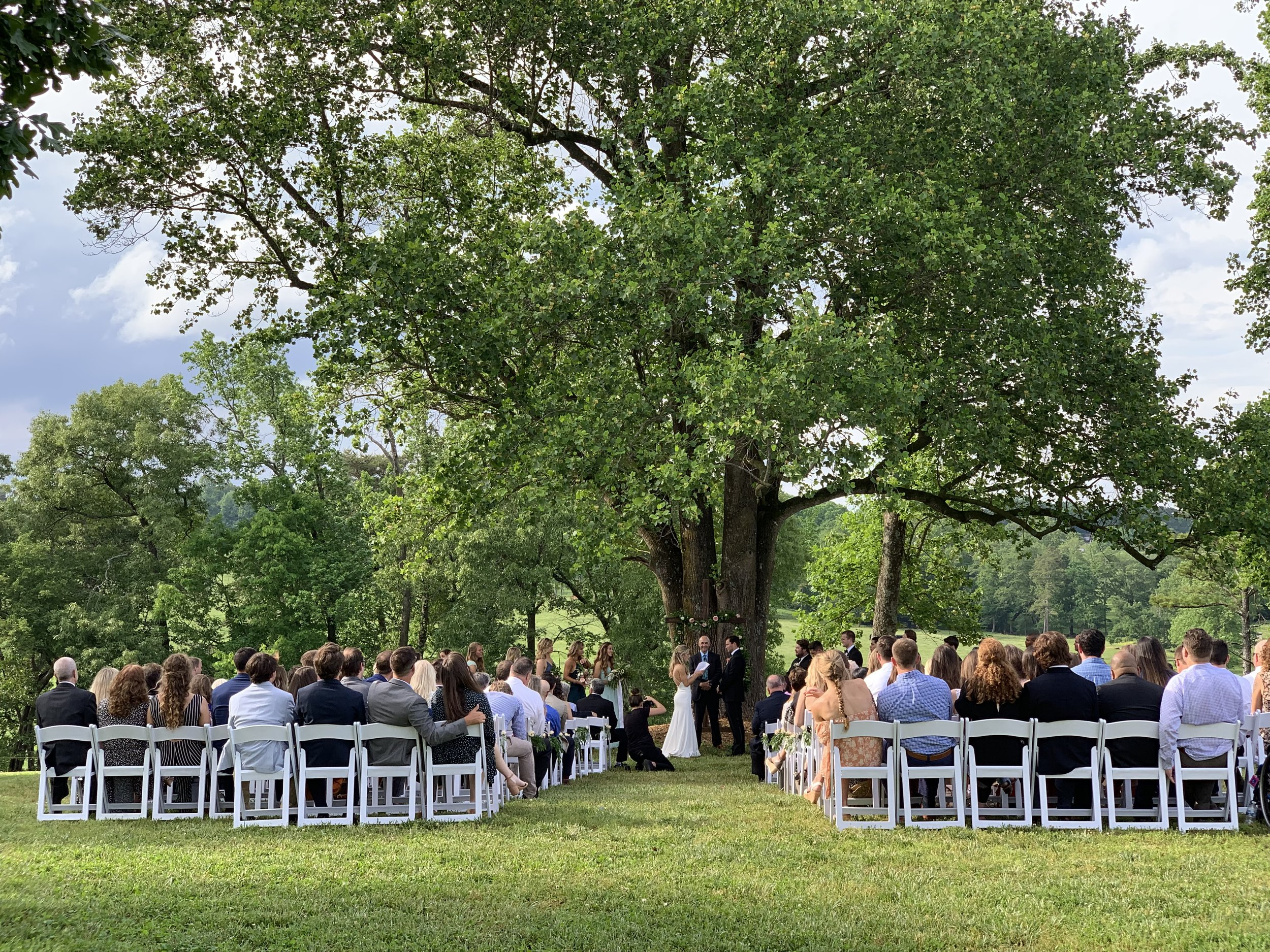 It was a stormy day but the sky cleared up just in time for our outdoor ceremony