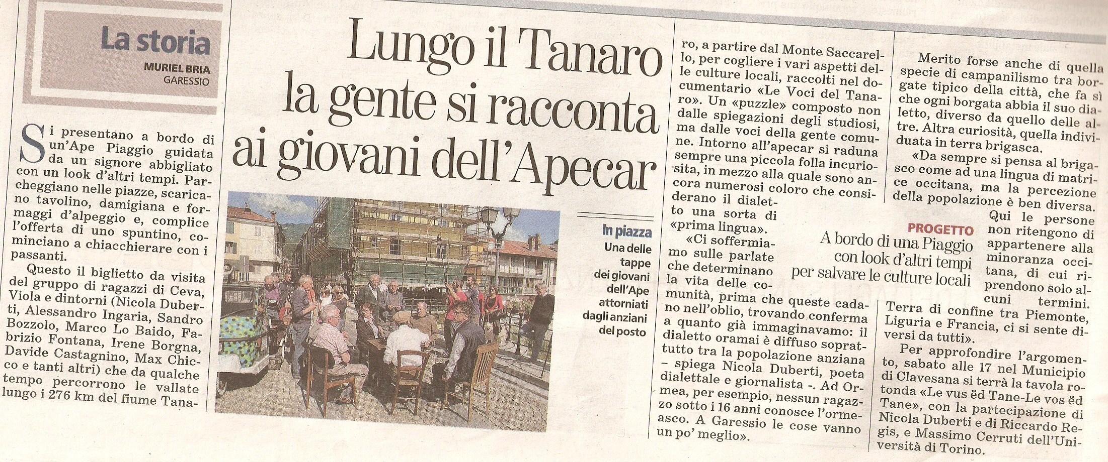 """Muriel Bria, """"La Stampa"""", 2 agosto 2011"""