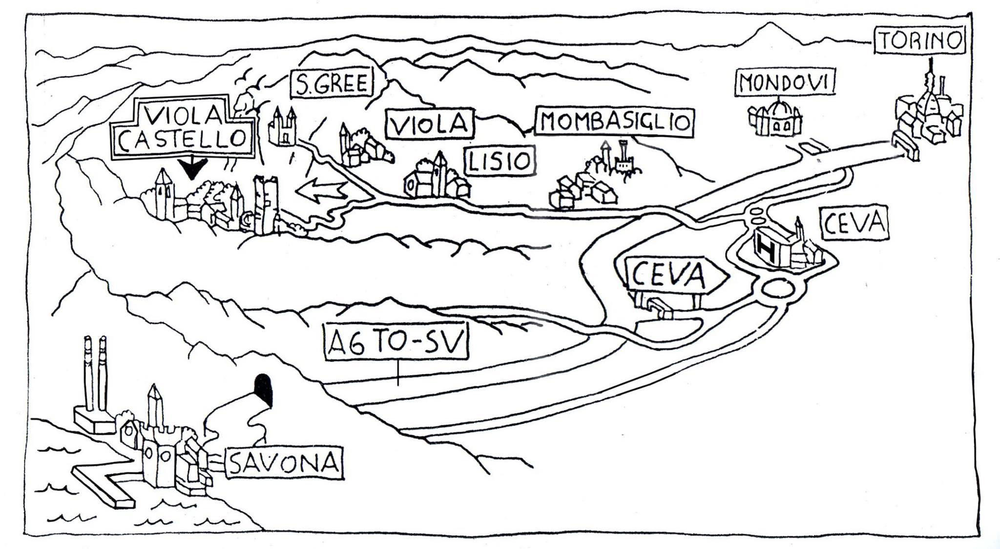 Per raggiungere il castagneto… - Si consiglia di limitare l'uso delle automobili, ottimizzando la capienza. Esiste un leggendario autobus che parte dalla località di Ceva. Esiste anche la possibilità di piantare la tenda e dormire nel bosco.