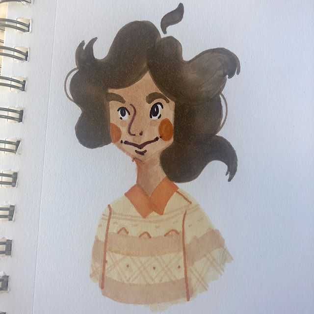 I really enjoyed drawing @vanessagillings Rahel. Just feels soft and nice, esp with the peaches and beiges. 🍑 #drawthisinyourstyle #drawing #brushpen #cute #challenge #illustration #rahel #soft #art #artistsoninstagram #peach