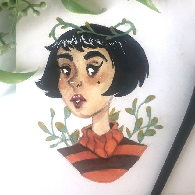 The giveaway is over, but I still wanted to try out @feefal piece. 🌱 #feefalredraw #brushpen #drawing #cute #plants #art #artistsoninstagram #marker #ink