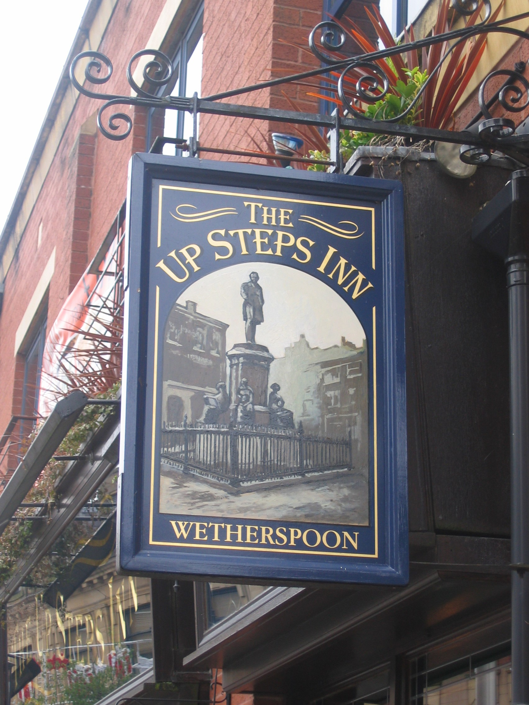 Wetherspoons incorporates local heritage into the frontages of their free houses. Photo:  Arthur Chappell