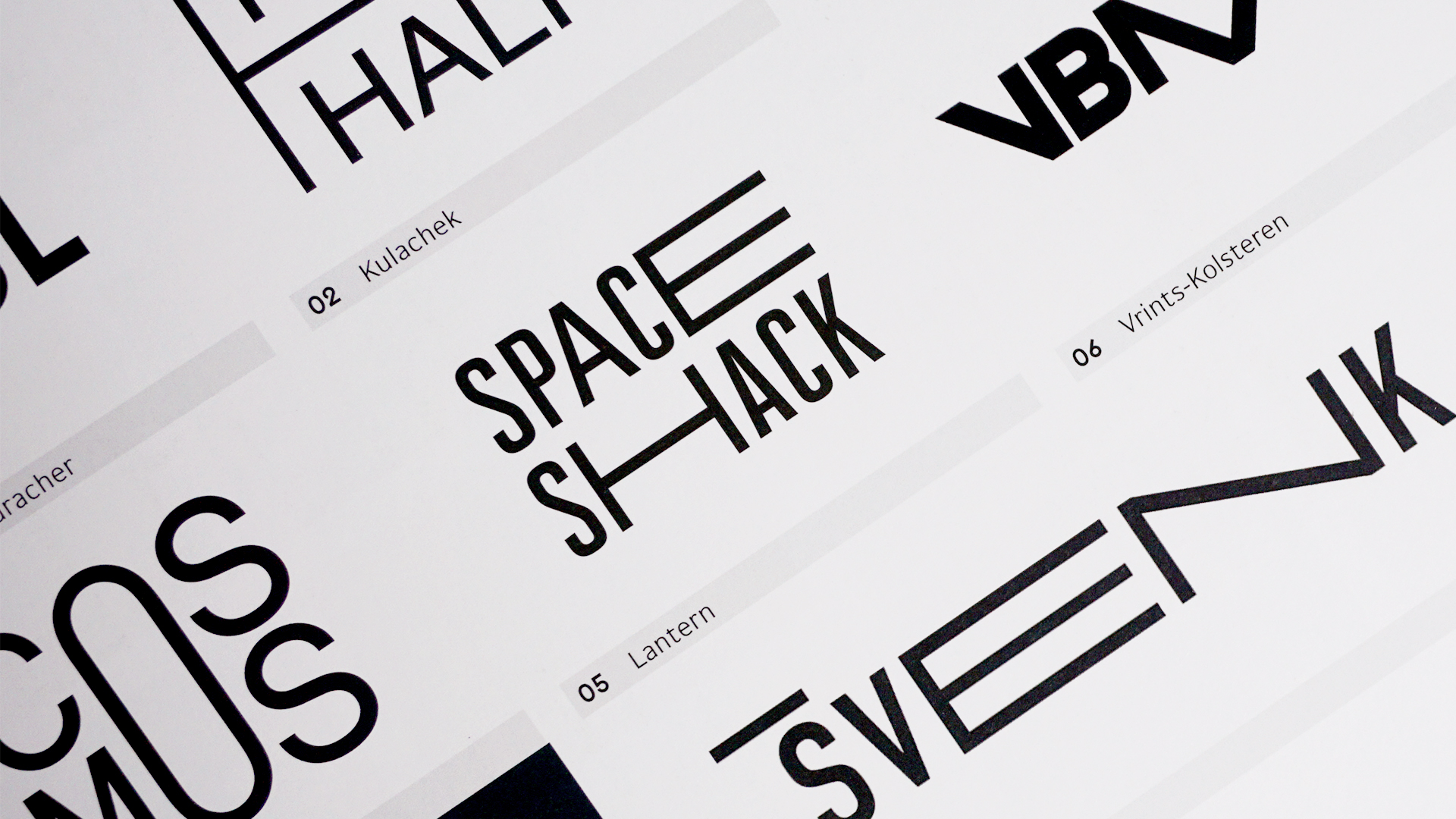 Identity for Space Shack. View the full project  here .