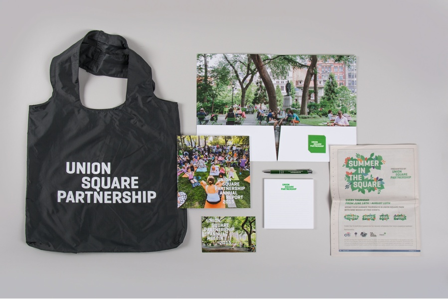 Union Square branding by C&G Partners