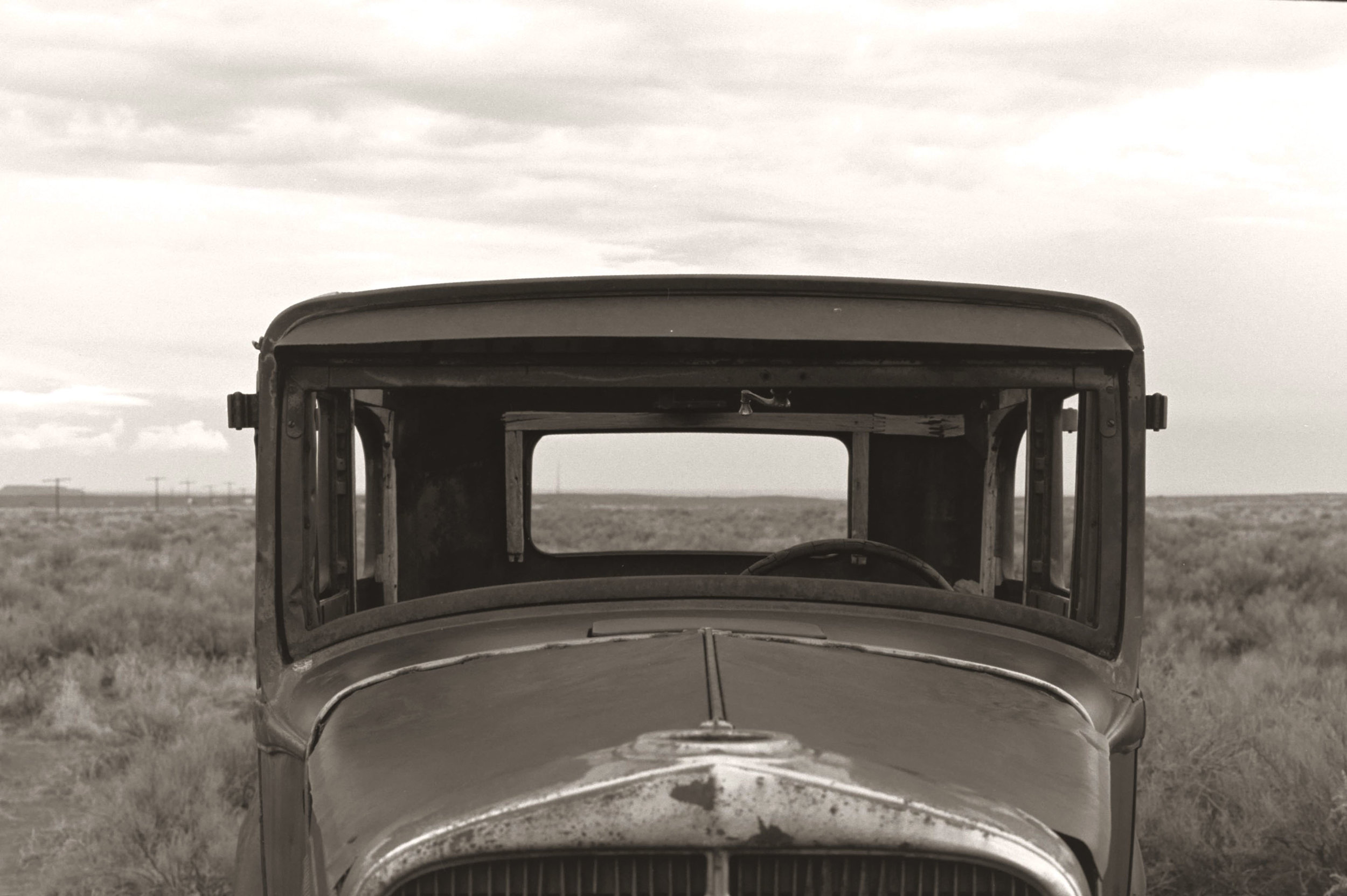 A 1932 Studebaker  on a section of the original Route 66
