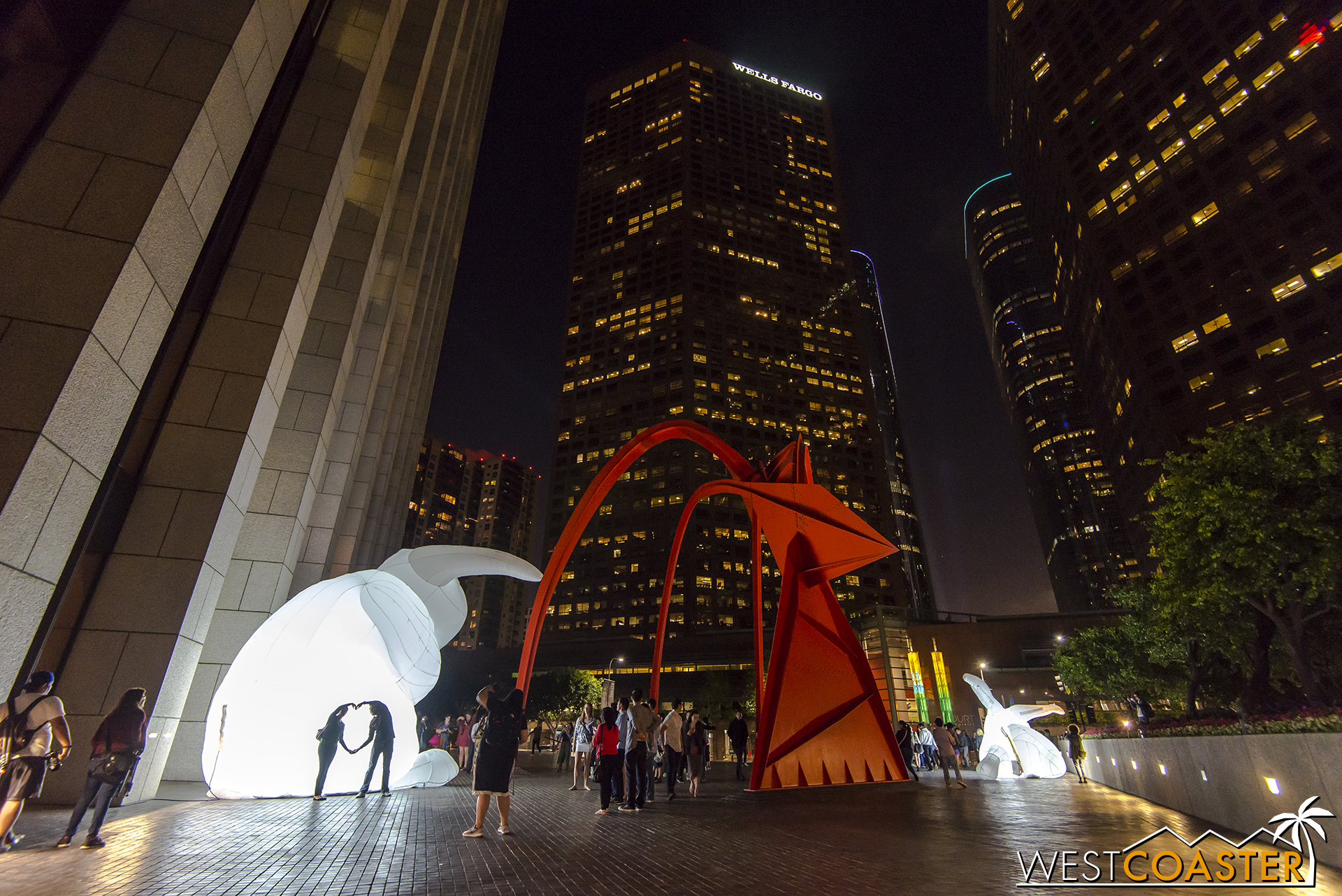 "The plaza, with the red ""Four Arches"" sculpture by Alexander Calder, provided a very nice backdrop."