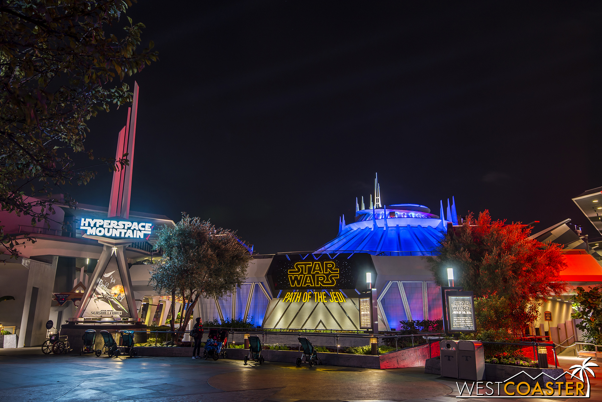 Space Mountain has been transformed into Hyperspace Mountain (get it??).