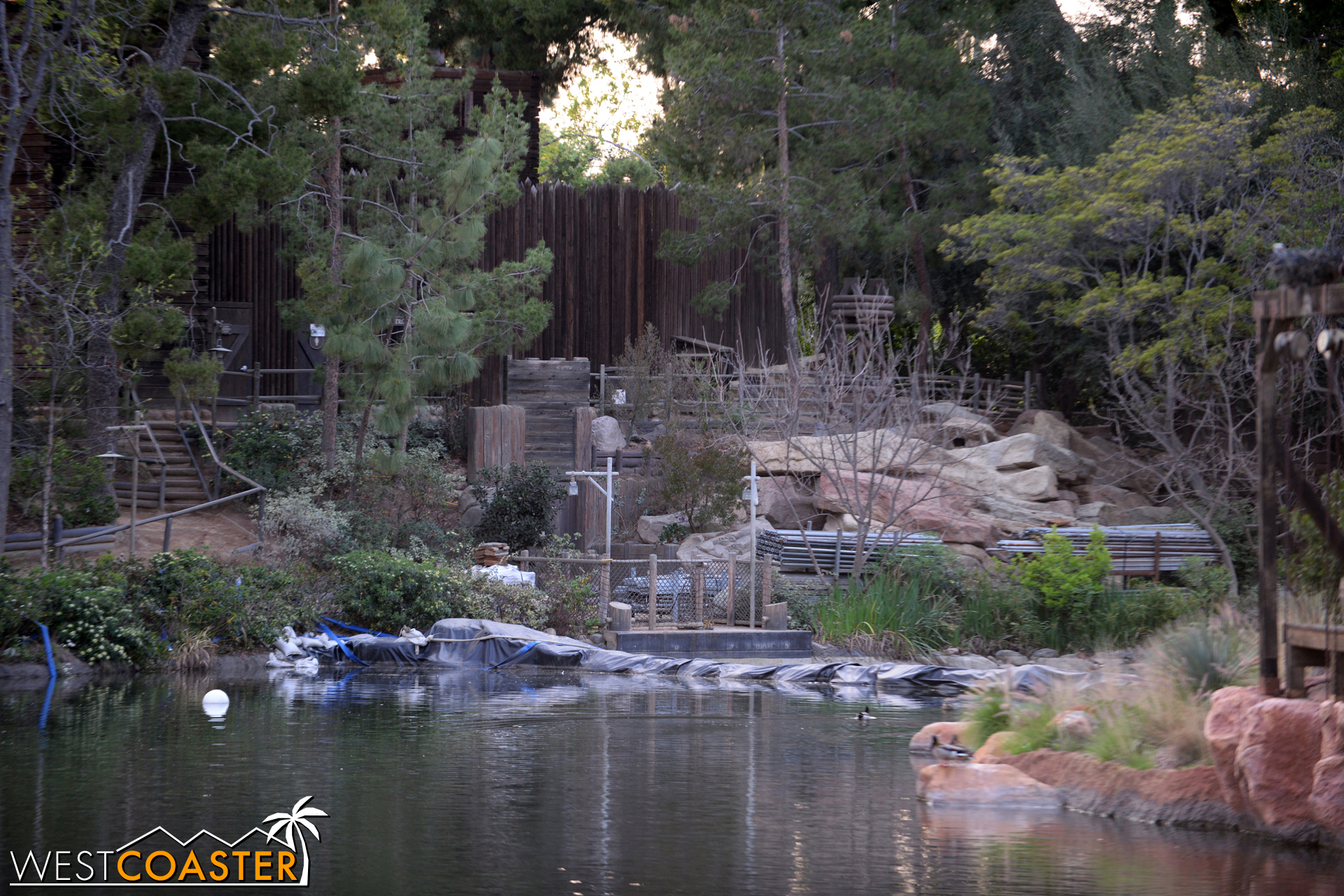 """But right now, this means any attraction or show that involves the River is off limits until next year, when this part of the """"Star Wars"""" Land infrastructure project completes."""