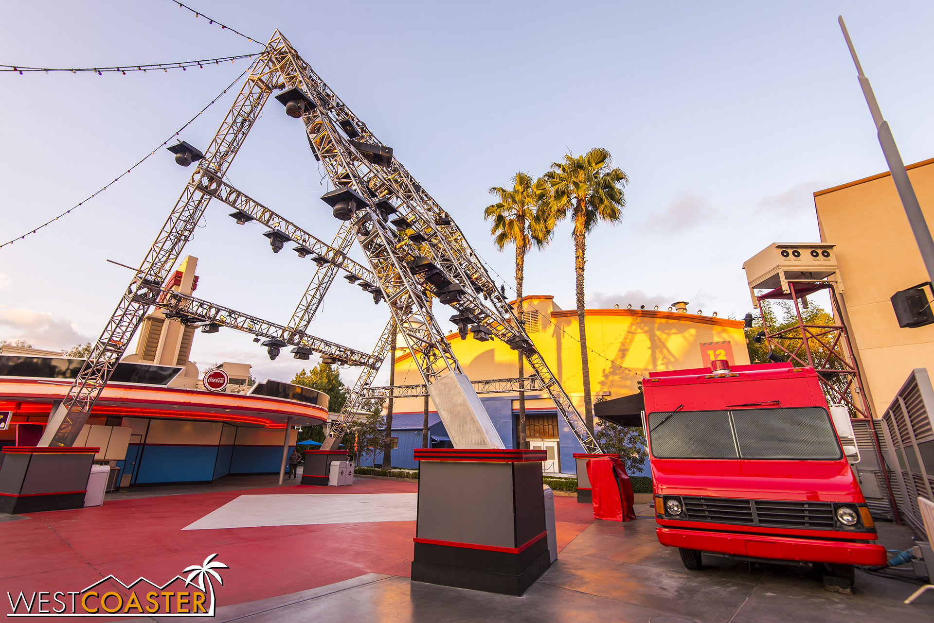 A week after the end of Mad Tea, the backlot had been stripped back to generic structure.