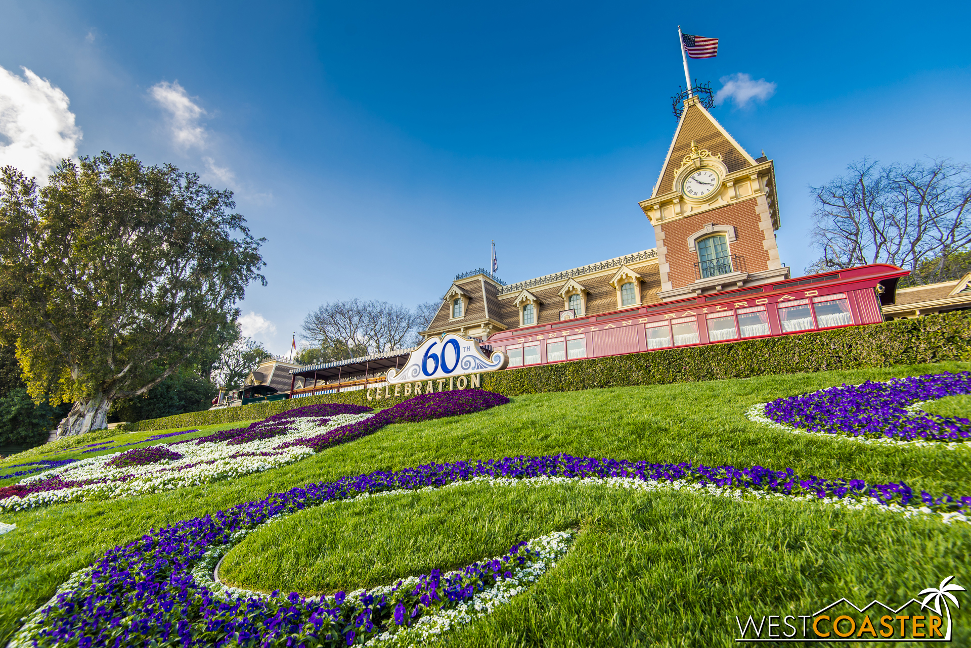 The Disneyland Railroad is also closed long term, but guests can actually go up at Main Street and New Orleans Square and walk around and explore the steam engines and cars parked there.