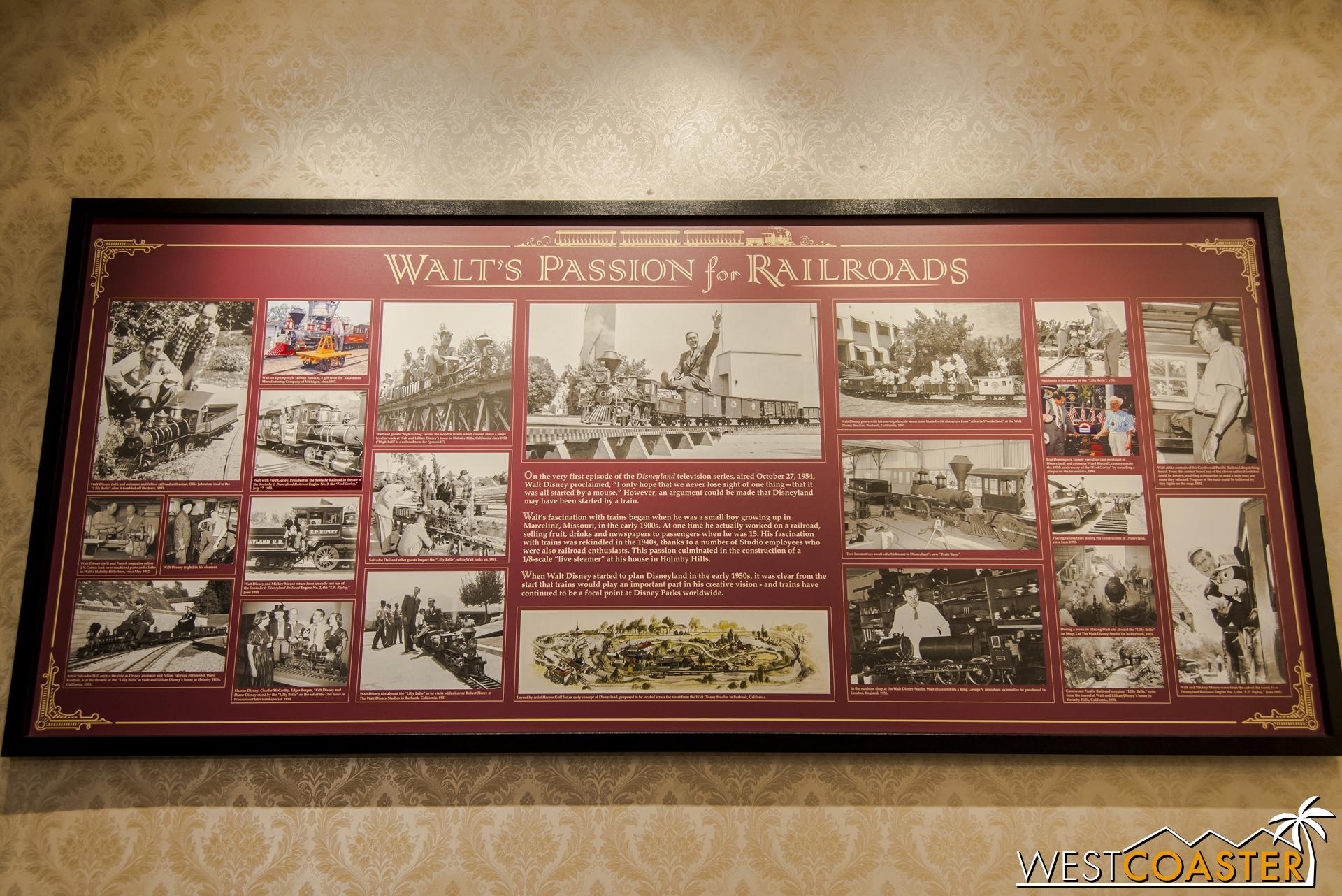 Walt sure loved his trains!