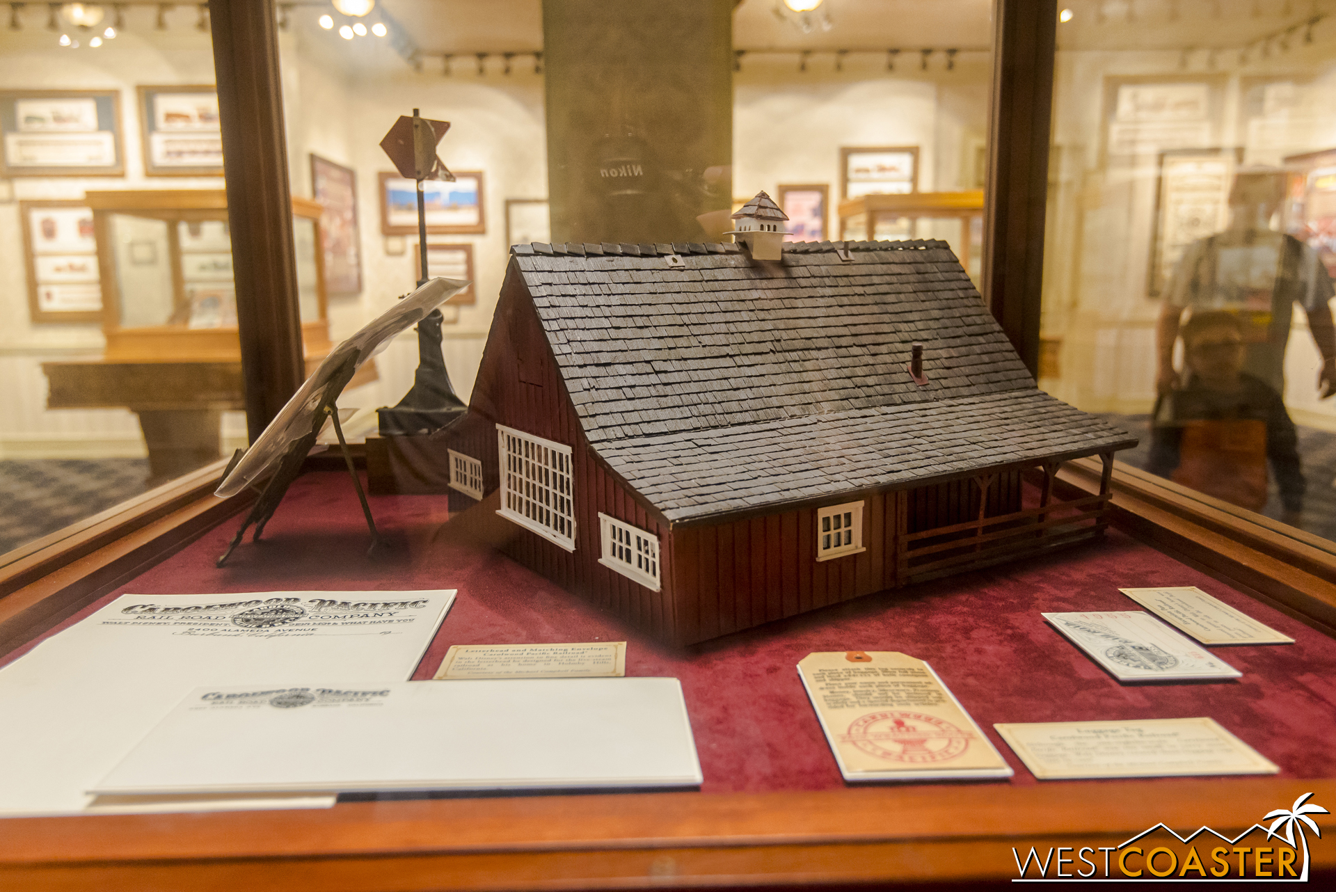 A model of Walt Disney's Carolwood Barn, which you can visit for free over at Griffith Park on select Sundays each month!