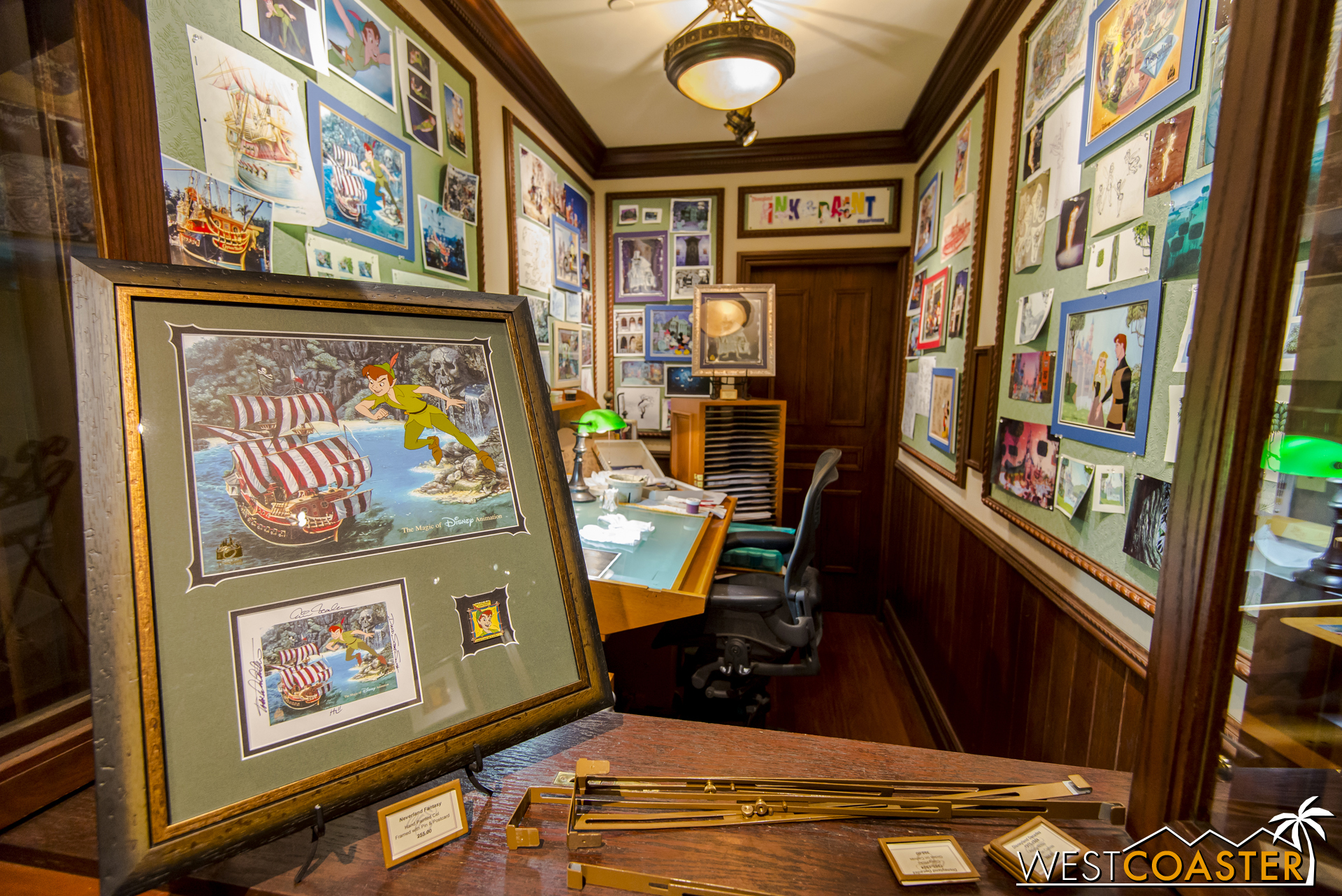 The Disney Gallery drawing studio has also been updated with Peter Pan content.