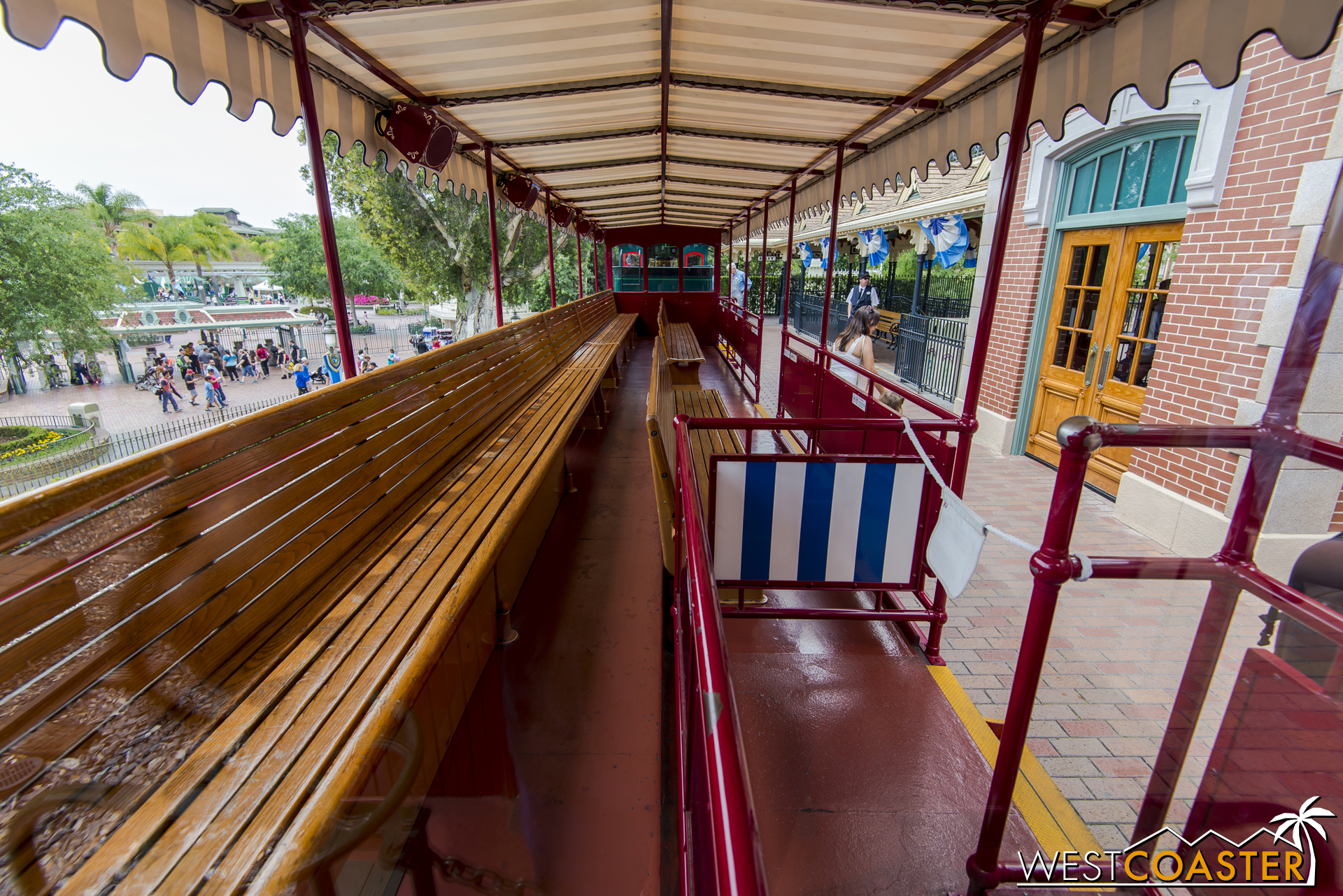 The view down a carriage.