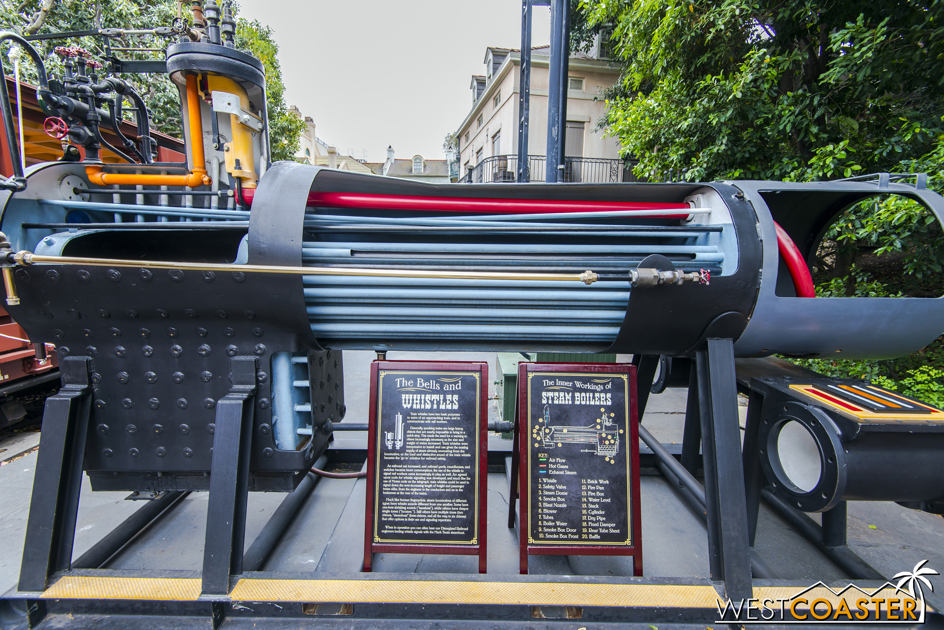 This exhibit explains how steam power works.