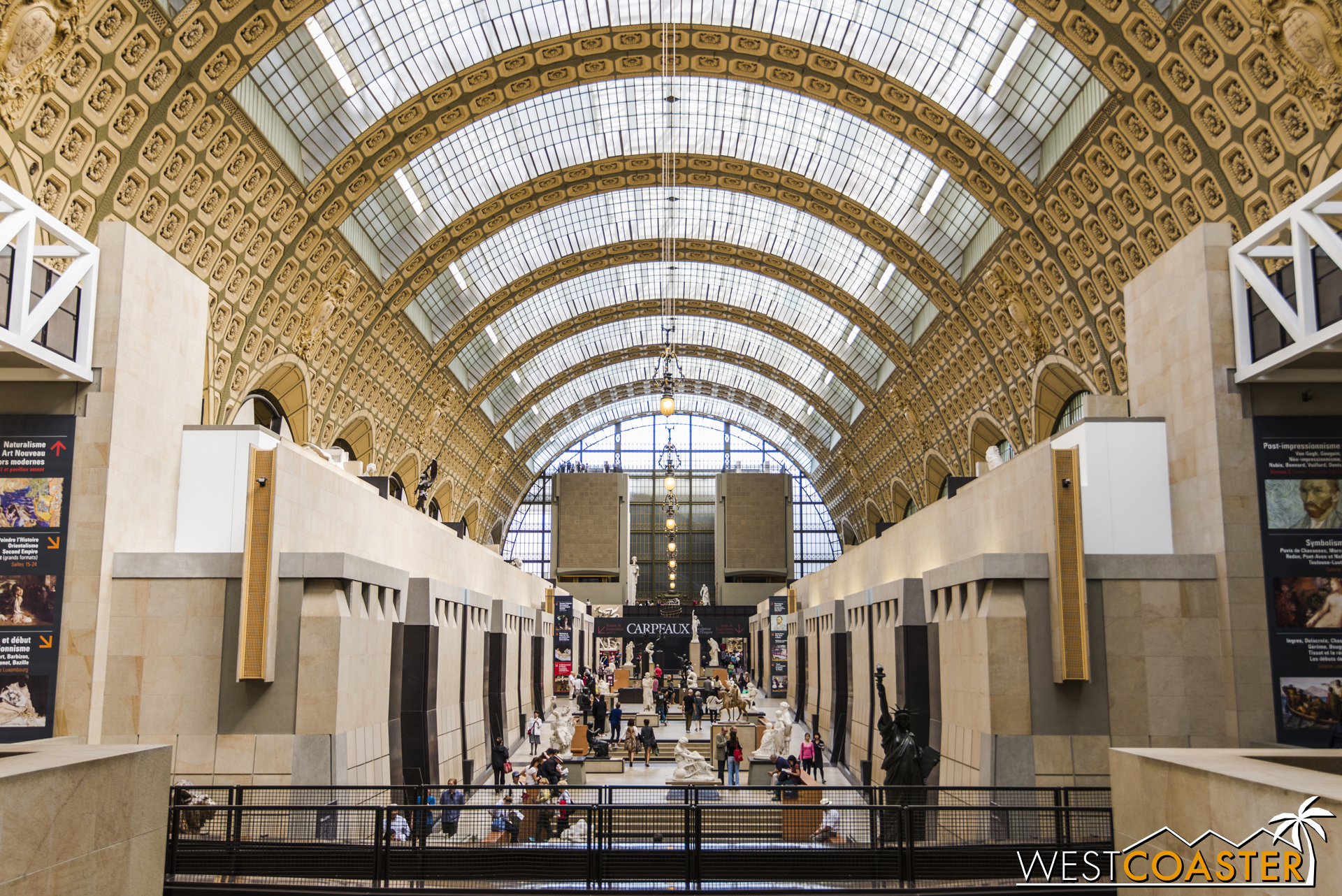 The soaring space of the train station turned D'Orsay Museum.