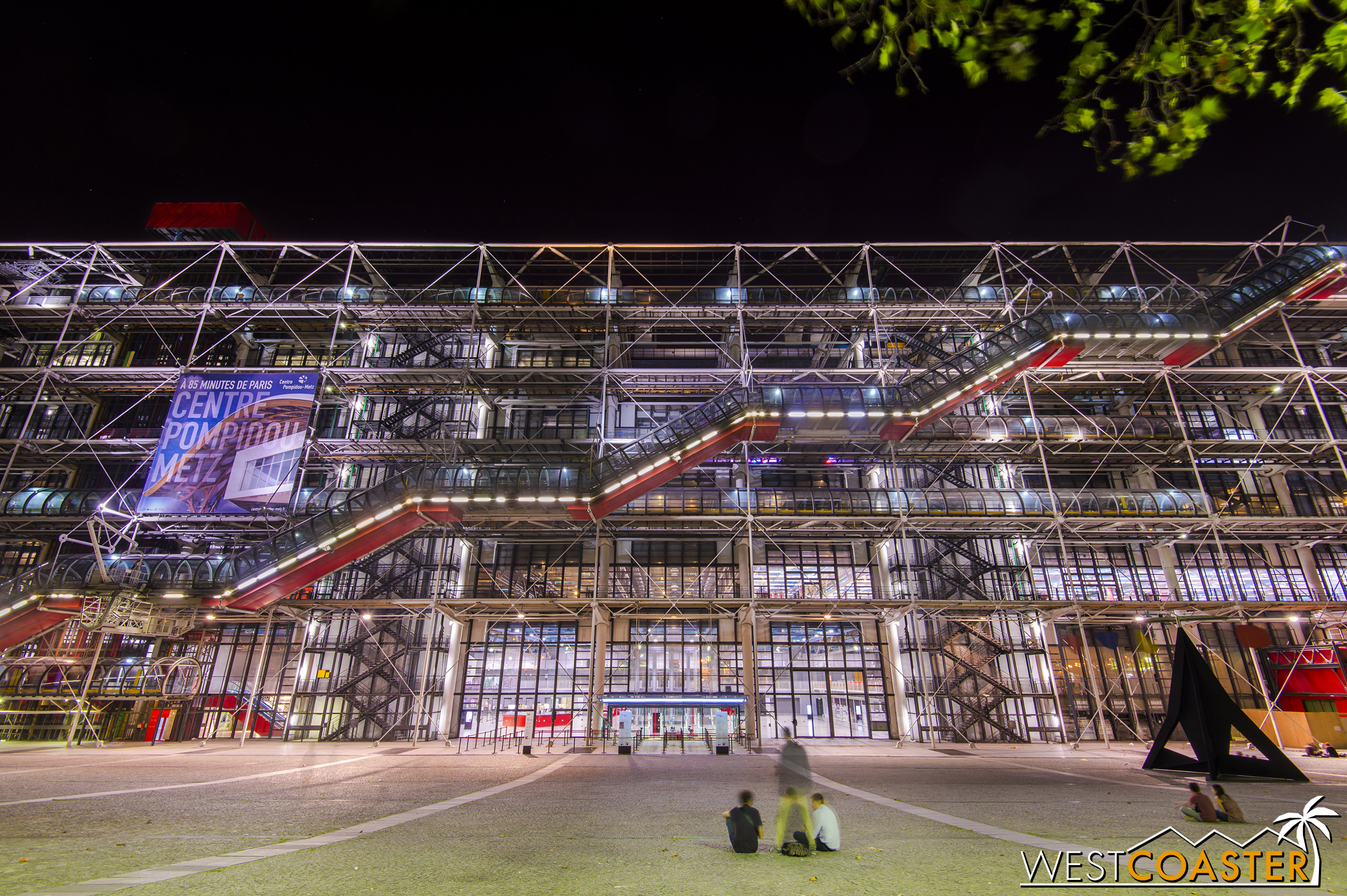 The Pompidou Center is home to modern art. Like most Parisian icons, it was once revolted but is now beloved.