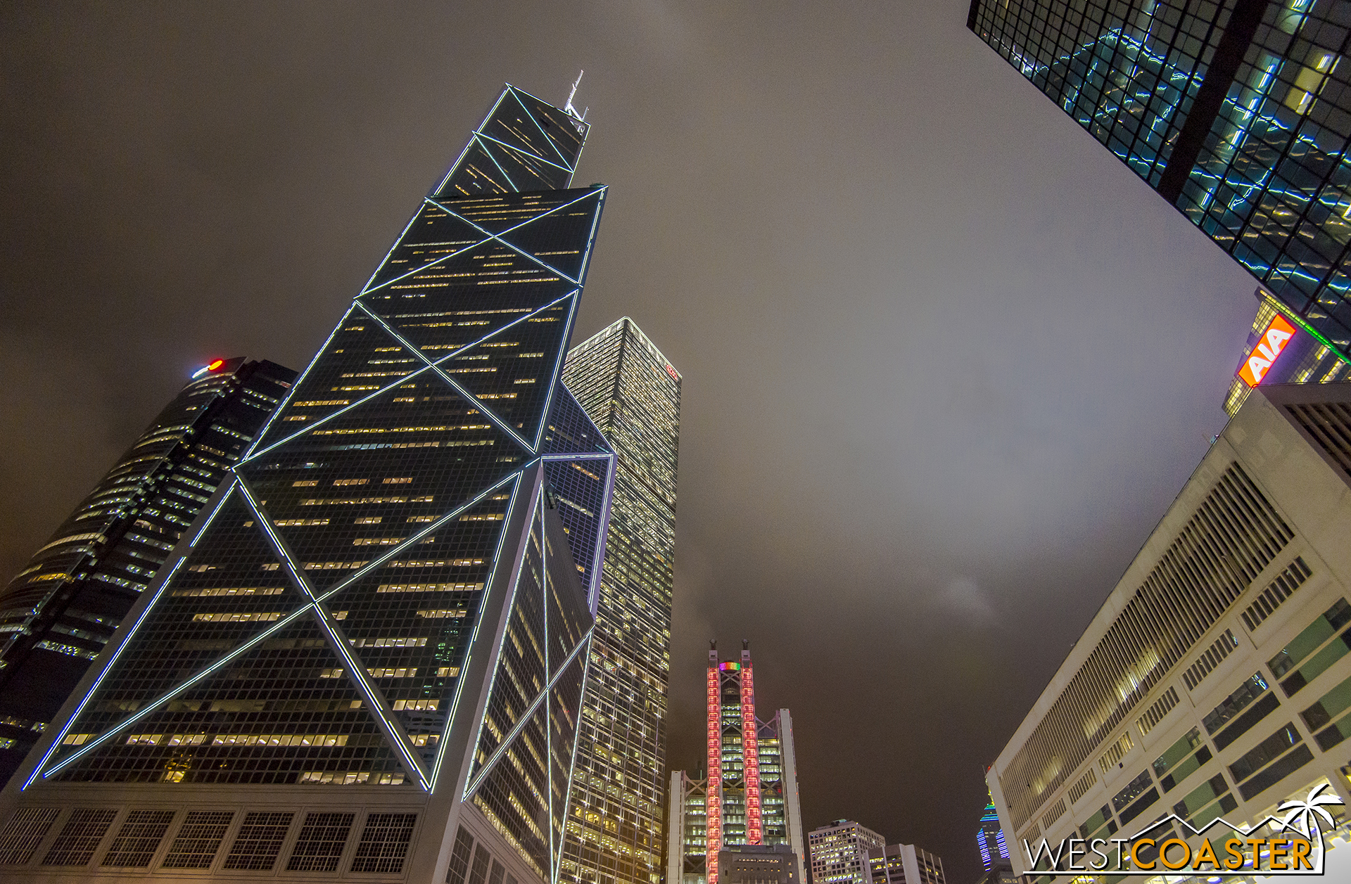 I.M. Pei's beautiful Bank of China Tower is a symbol of the city.
