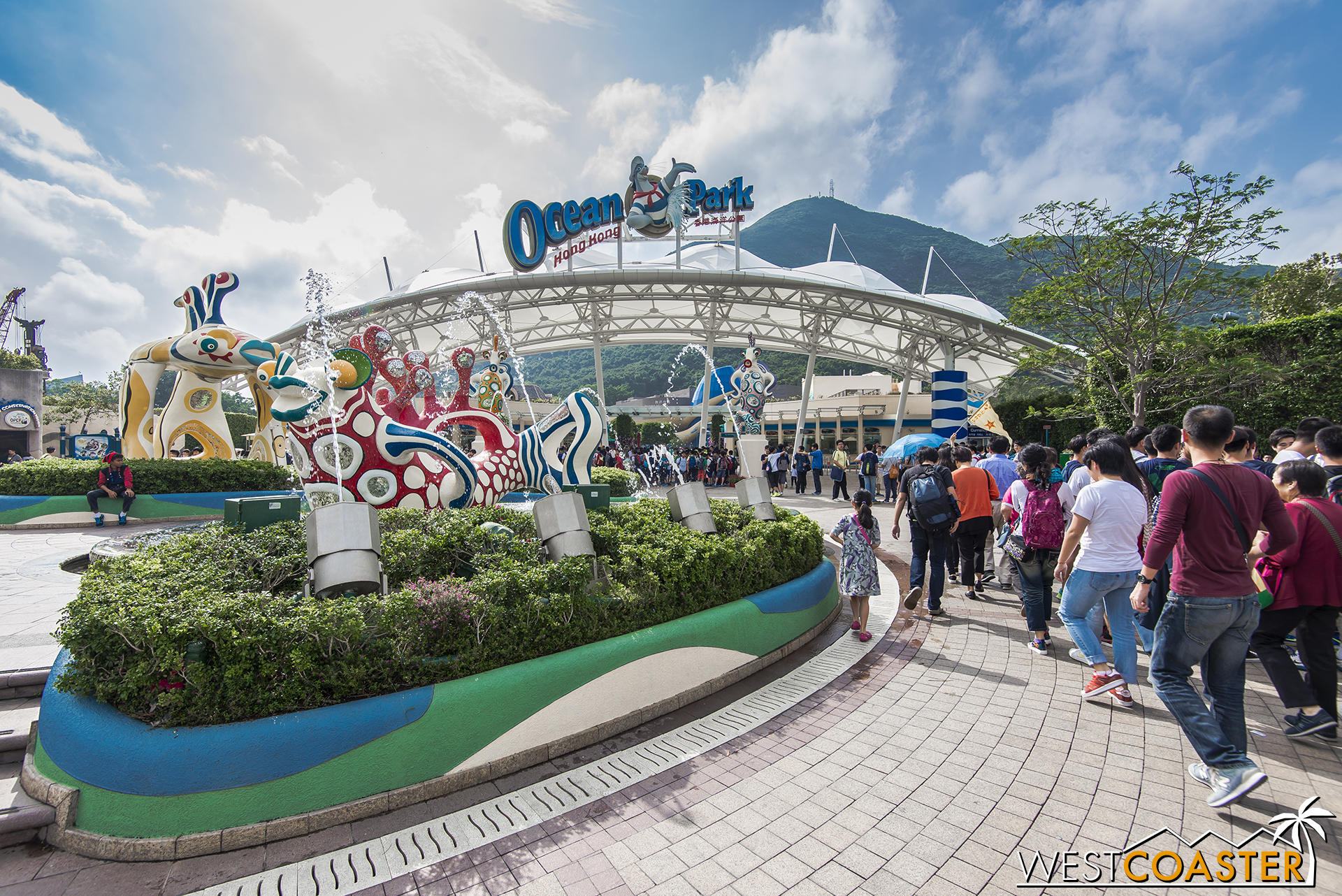 Ocean Park is a bit like Sea World meets Six Flags and is actually the more popular park among locals because of its longer and more established history as an attraction.