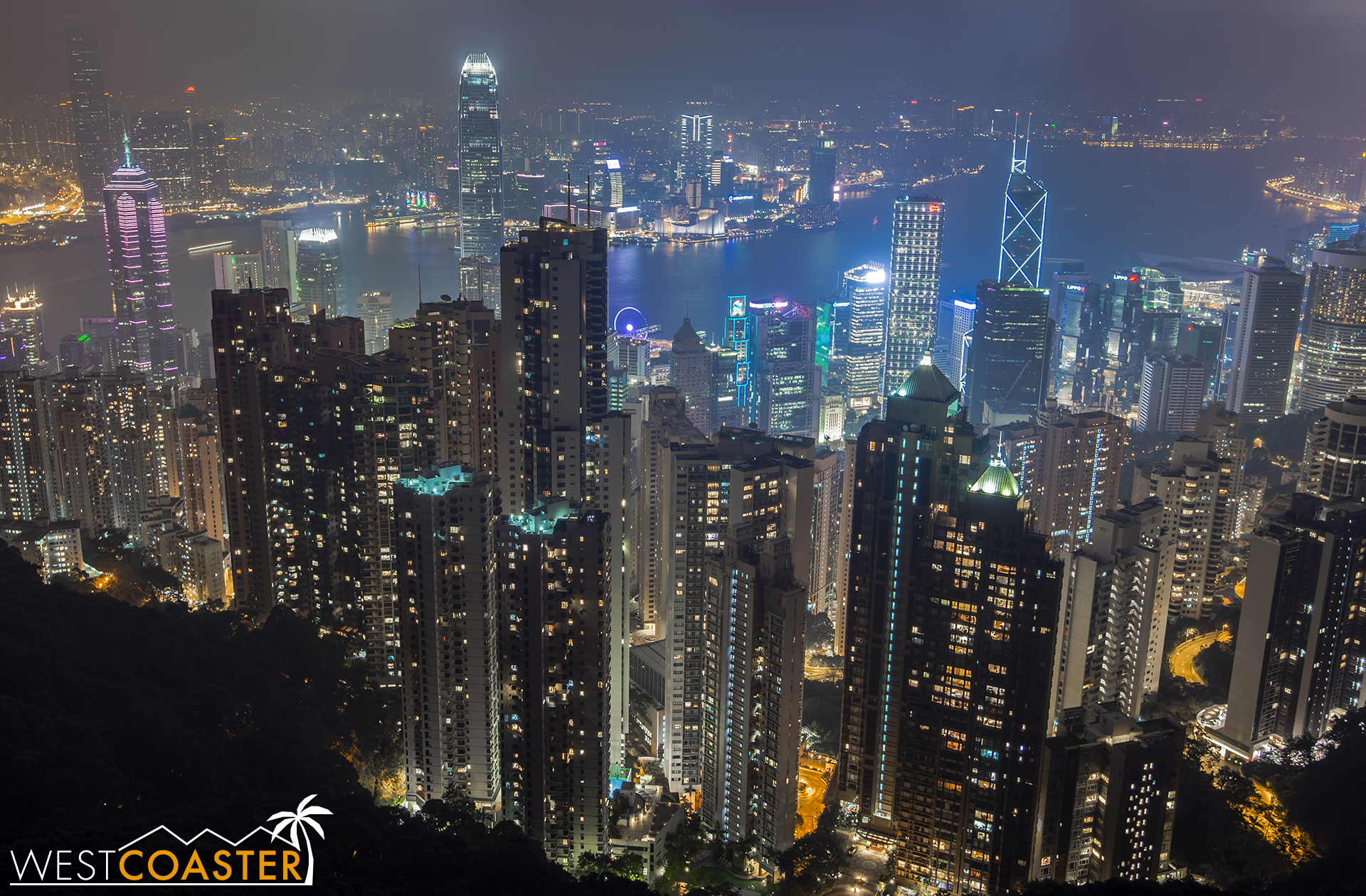 Perhaps the most popularly photographed view of Hong Kong comes from Victoria Peak.