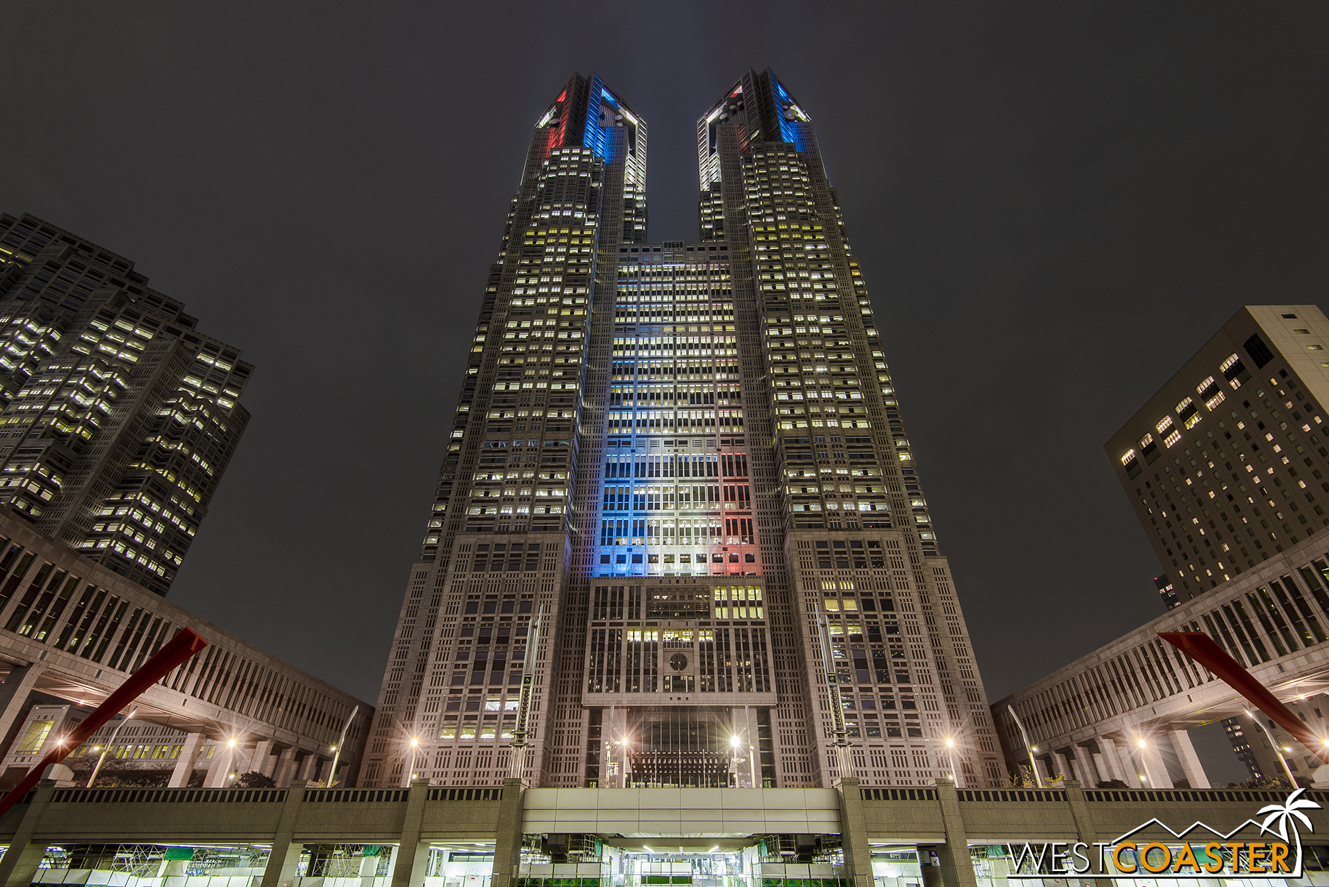 The Tokyo Metropolitan Building offers great views of the city from the west side of the metropolis, and it's free to go up for the view!