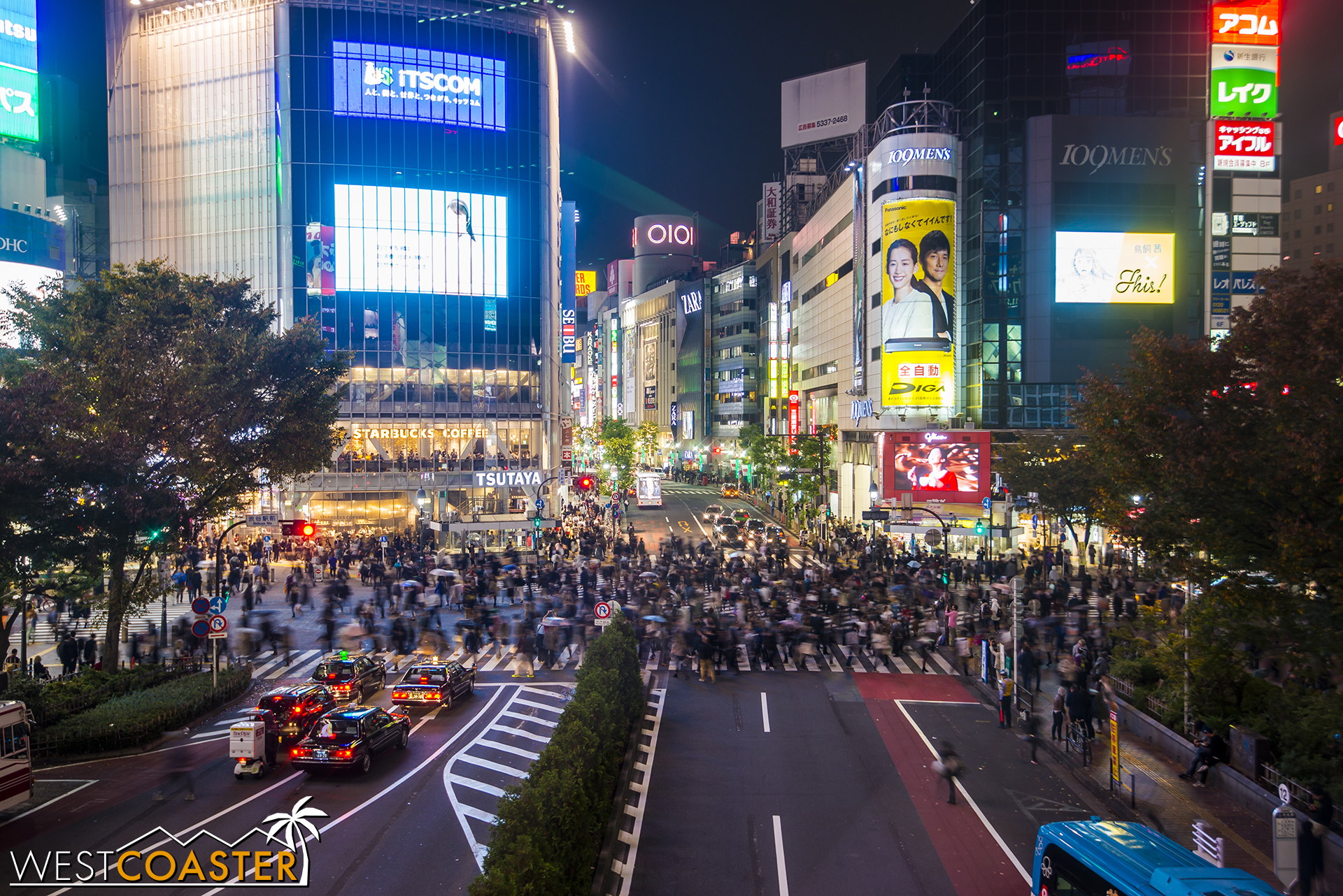 World famous Shibuya Crossing, one of the dynamic and electric intersections on Earth.