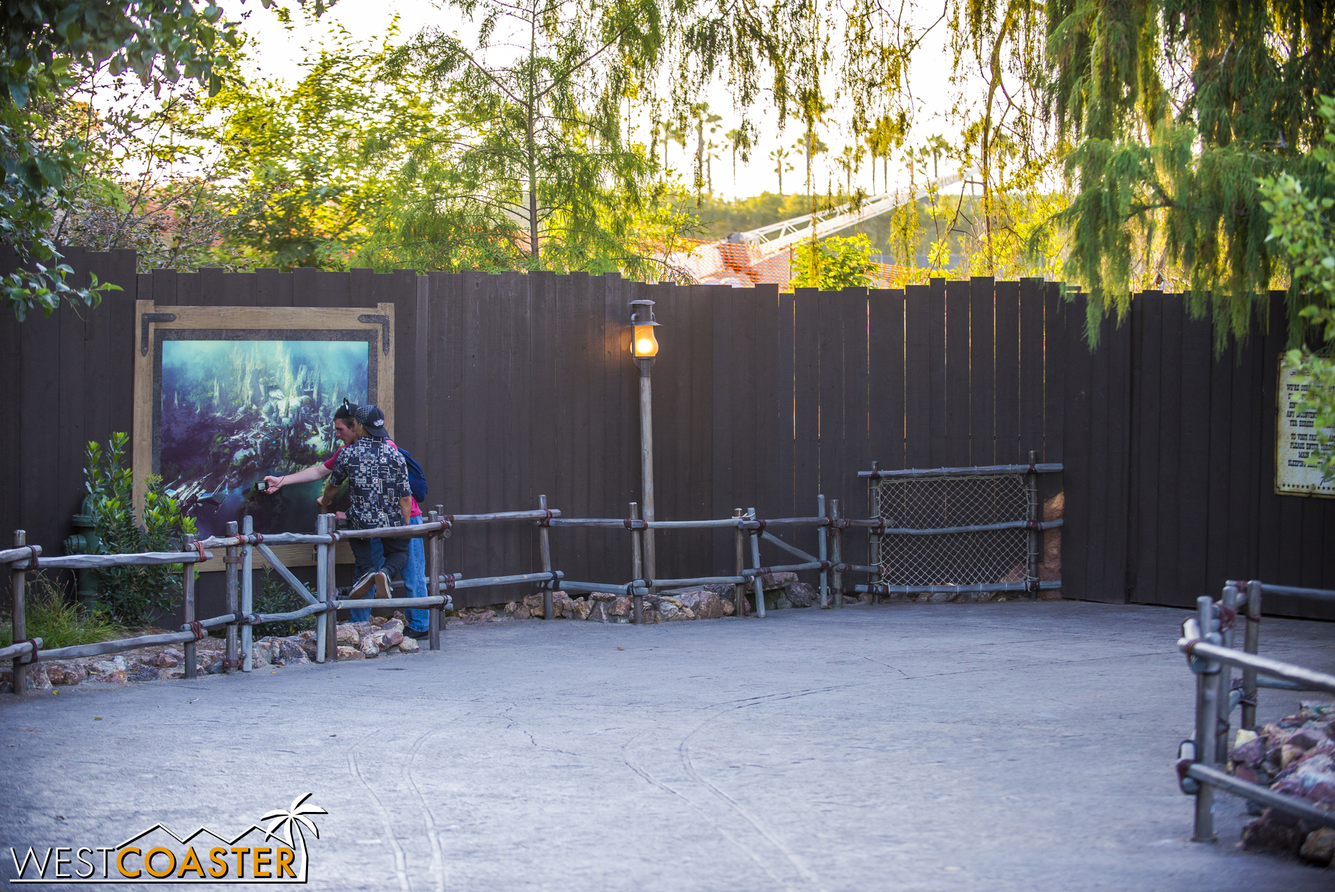 "Meanwhile, at the dead end in Frontierland, beside Big Thunder Mountain Railroad, they've put up the new ""Star Wars"" Land rendering released last Monday."