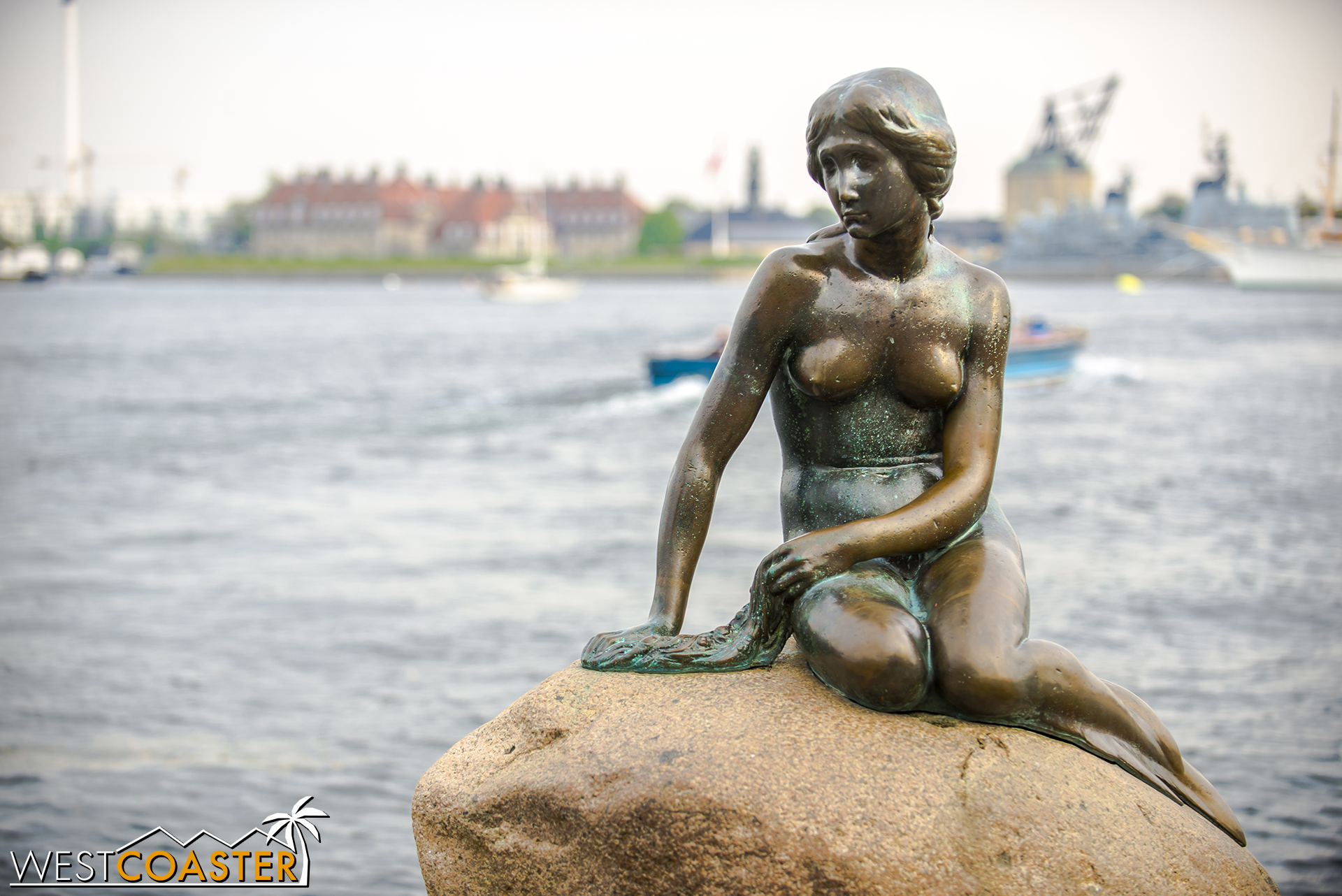The Little Mermaid statue is located in the Langelinie Pier and Park area on the eastern coastline of the city. It's kind of like the Mona Lisa... much smaller than expected, a symbol of the city, but not necessarily mind-blowing in person.