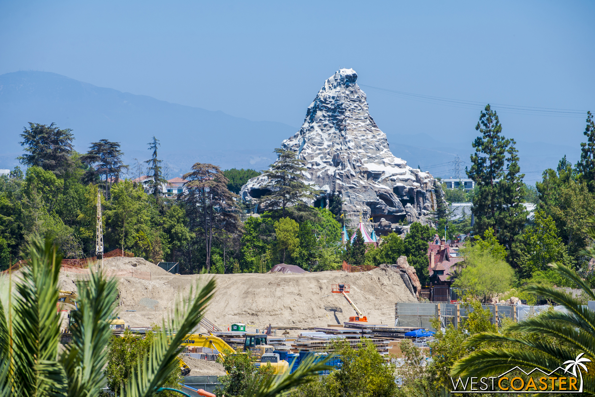 Moving over to those great mounds behind Fantasyland.