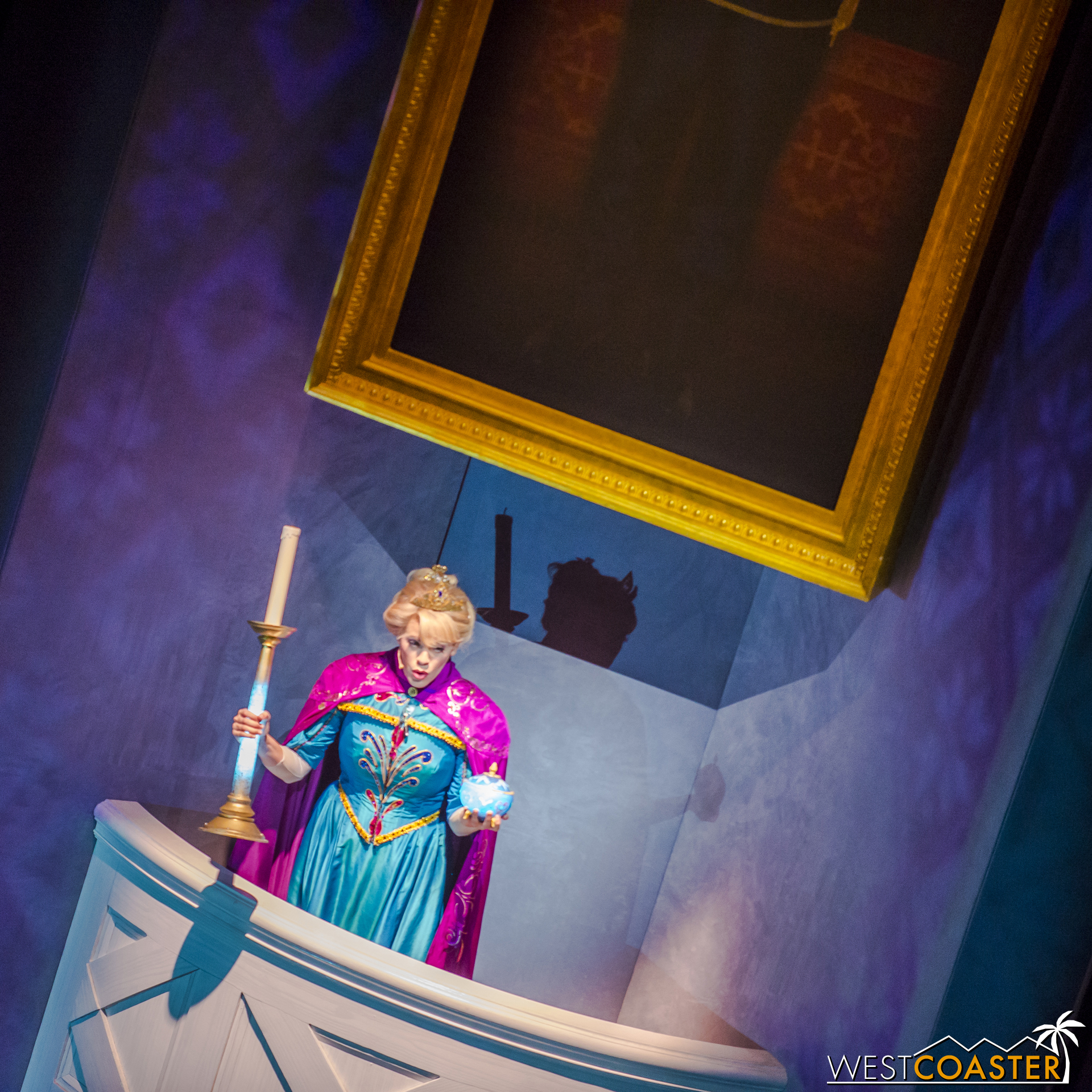But the evil Elsa arrives and shows that she, too, has changed, by revealing that she has mutilated the original Lumiere by cutting off both of his arms. She has also put Mrs. Potts in a deathly pall of eternal slumber.
