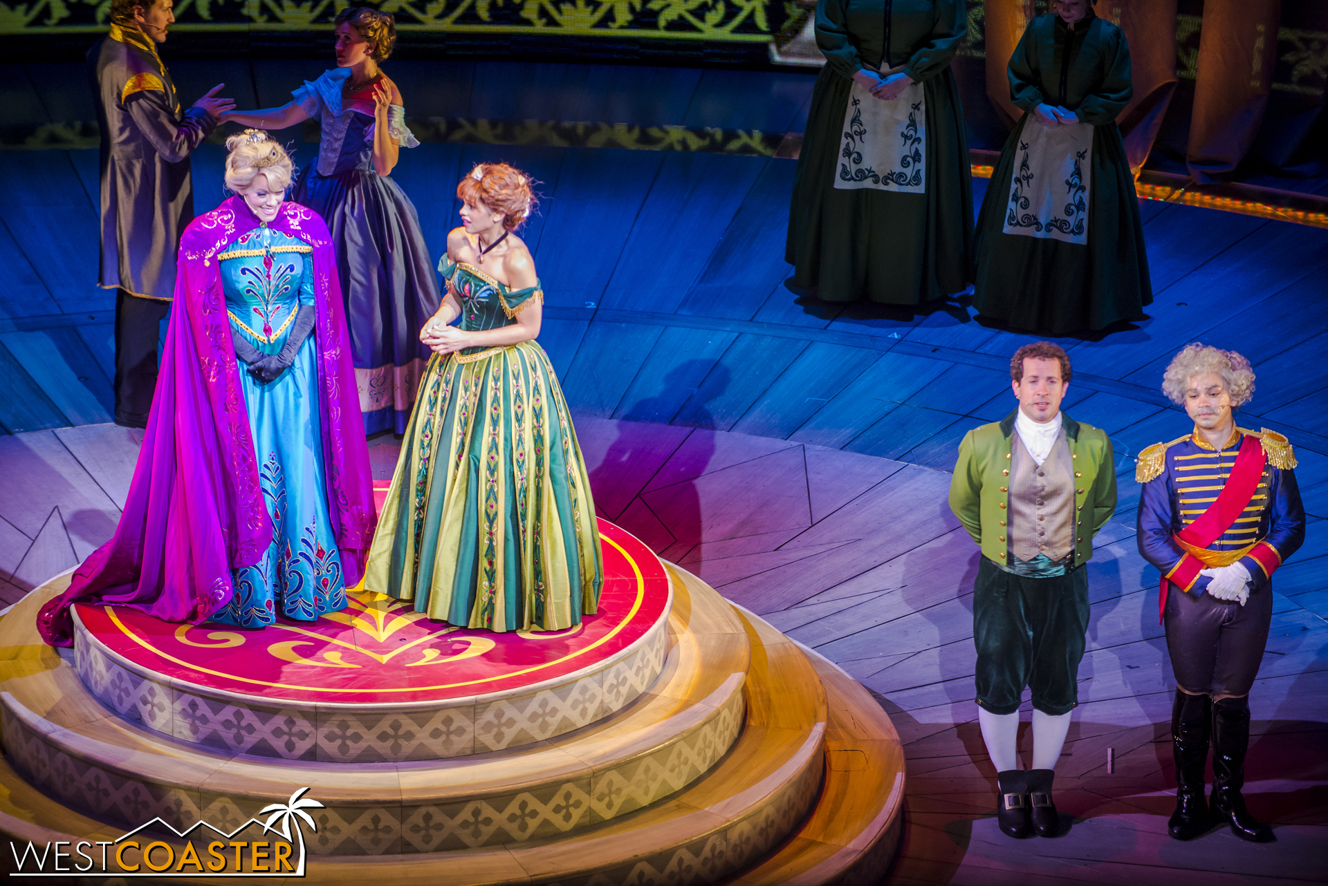 Anna begs for mercy for the land, and Elsa agrees that she might relinquish Arendale if she can be pleased with a magnificent dance.