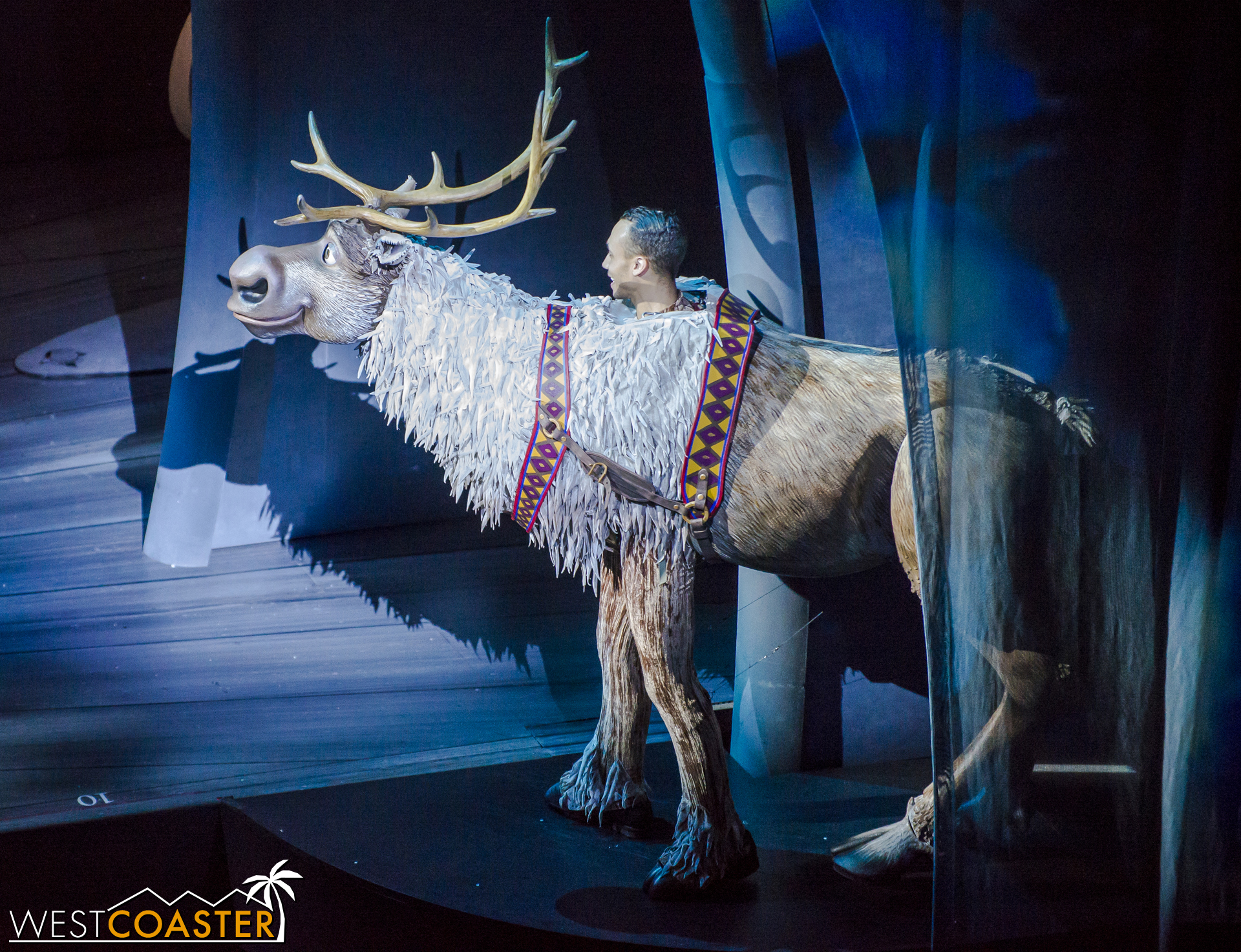 Meanwhile, in the wilderness far removed from Arendale, Sven the Reindeer is enjoying the snowy weather.  [EDITOR'S NOTE: OH MY F***ING GOD WHAT IS THIS ABOMINATION?!?!? - JD]
