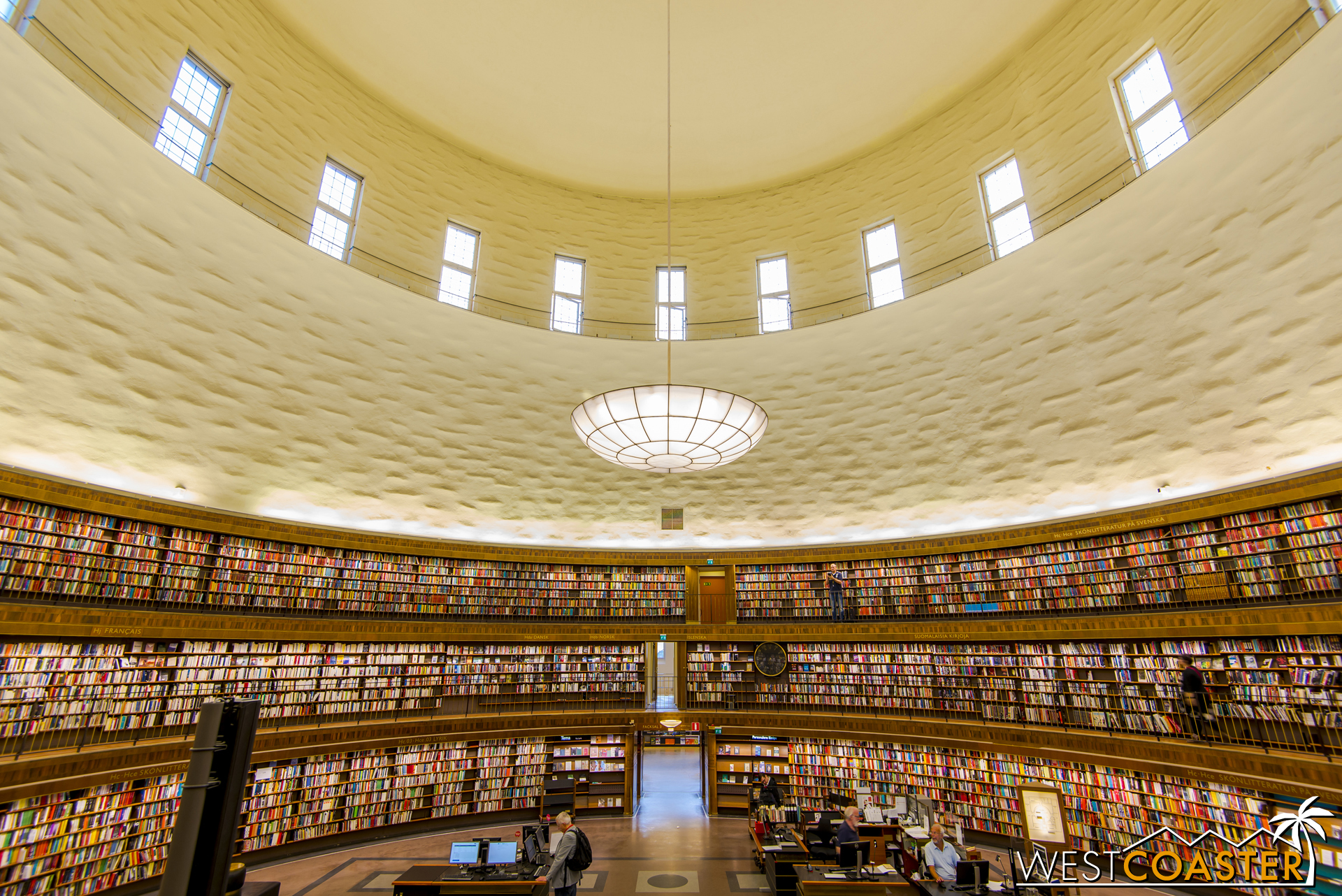 Gunnar Asplund's Stockholm Public Library is a significant work of architecture and illustrated his transition from a classical style to a more modern and functional one.