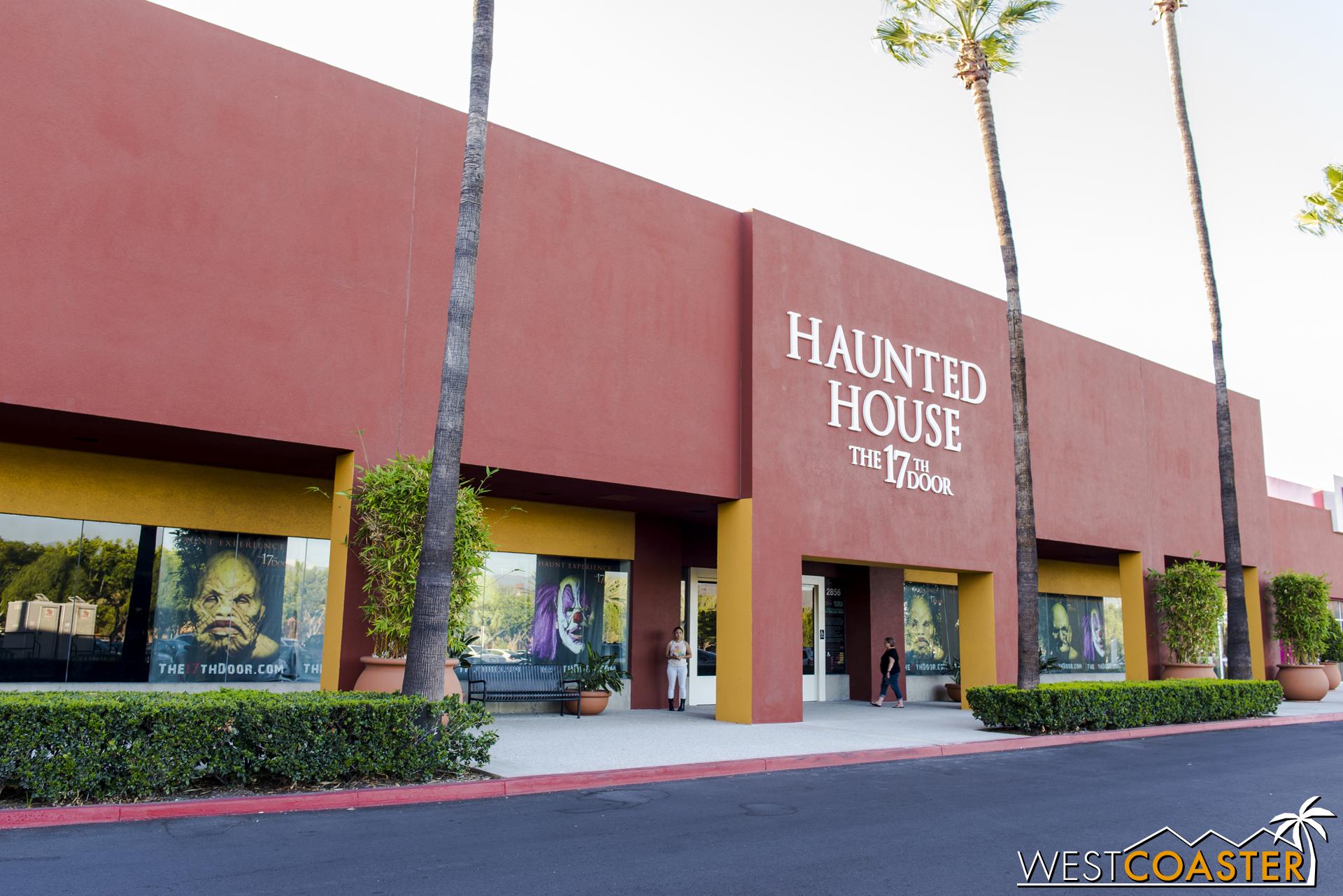 A non-descript Orange County shopping mall facade hides the shocking horrors within.