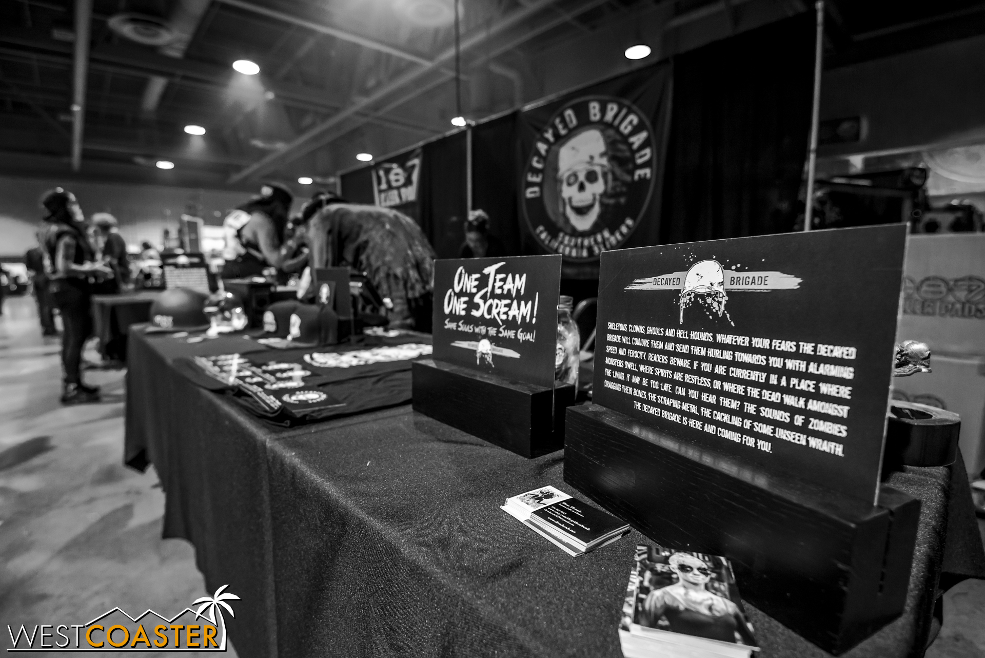 The Decayed Brigade booth was a fun place to be over the weekend.