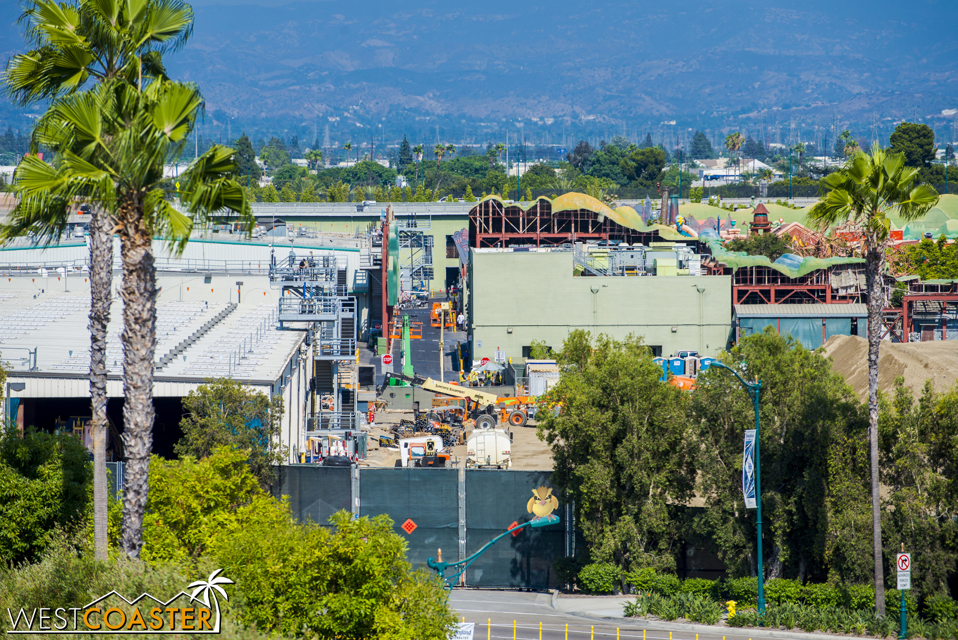 More equipment continues to show up. Here's and angle closer to Mickey's Toontown backstage that I haven't shot before.