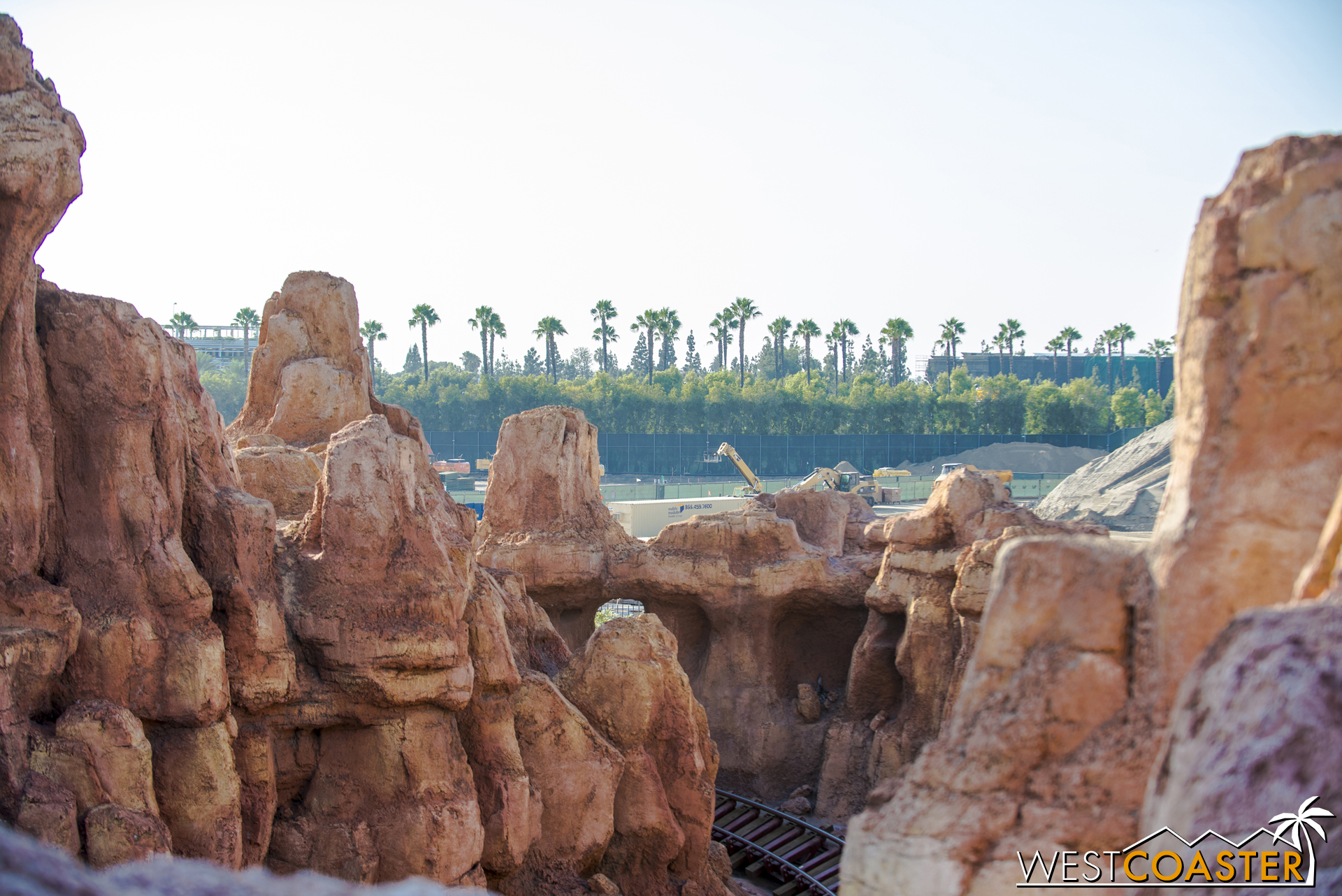 The view from the Big Thunder Mountain Railroad second lift hill.