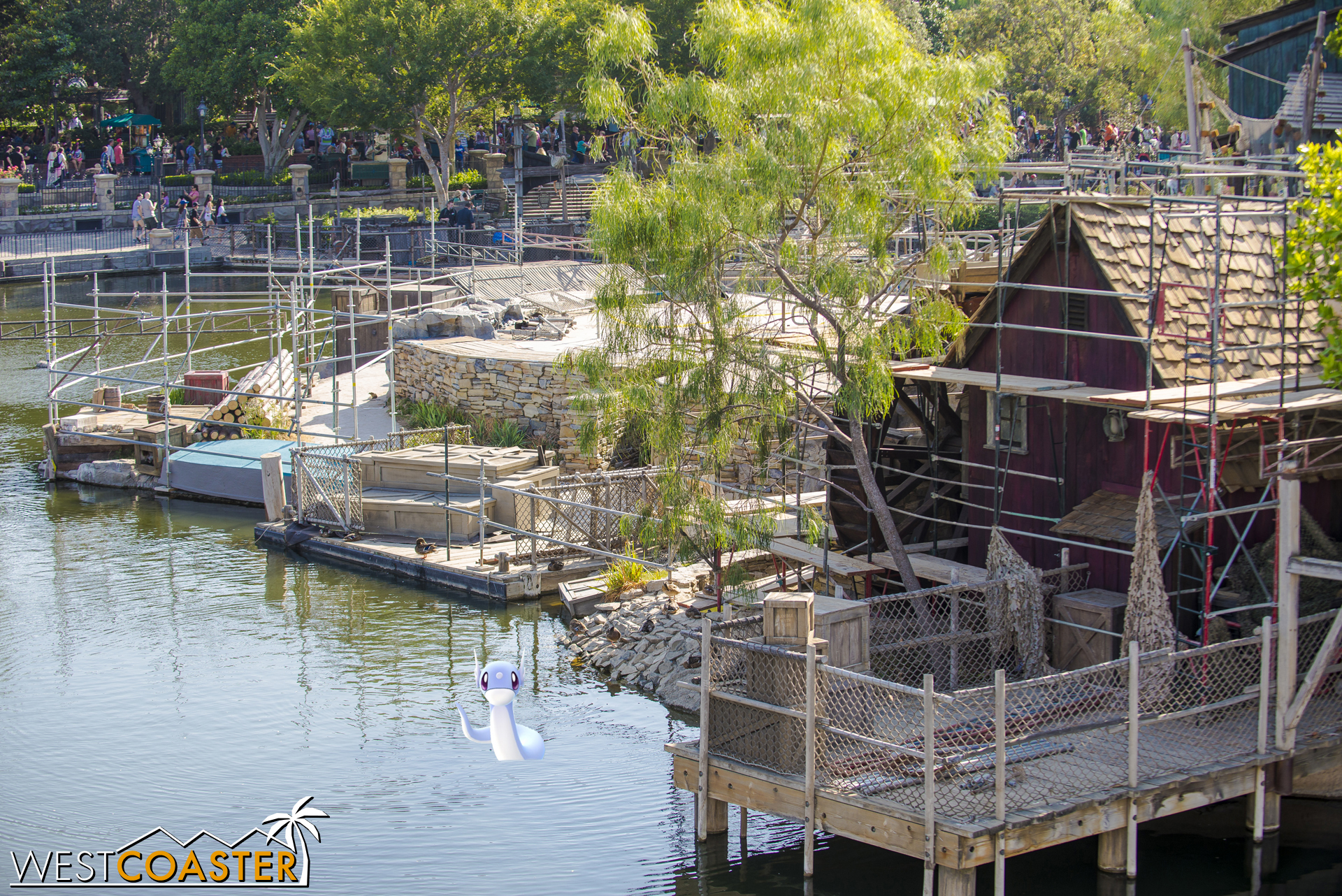 Shifting to the east side of Tom Sawyer Island.