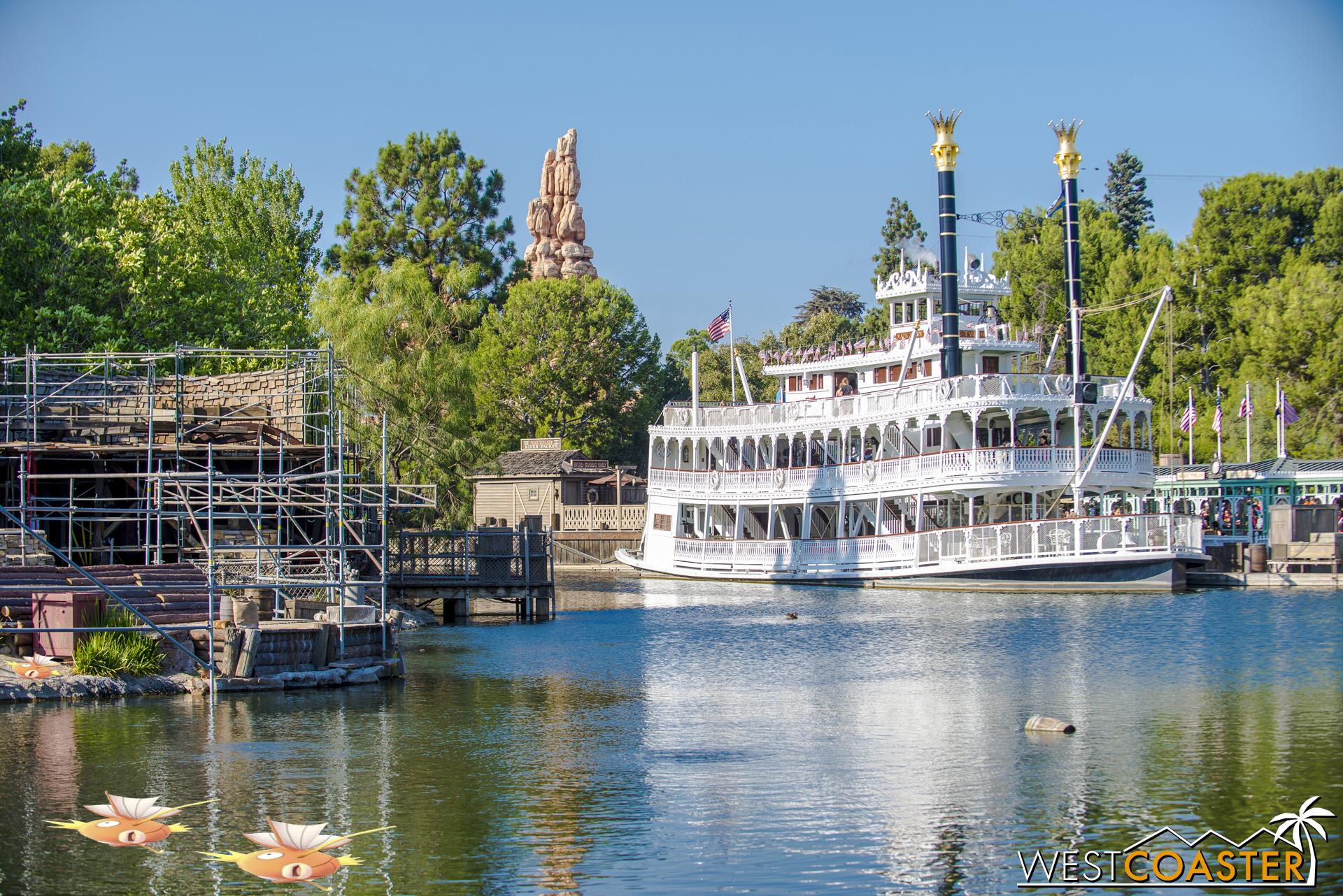 Looking the opposite way from New Orleans Square.