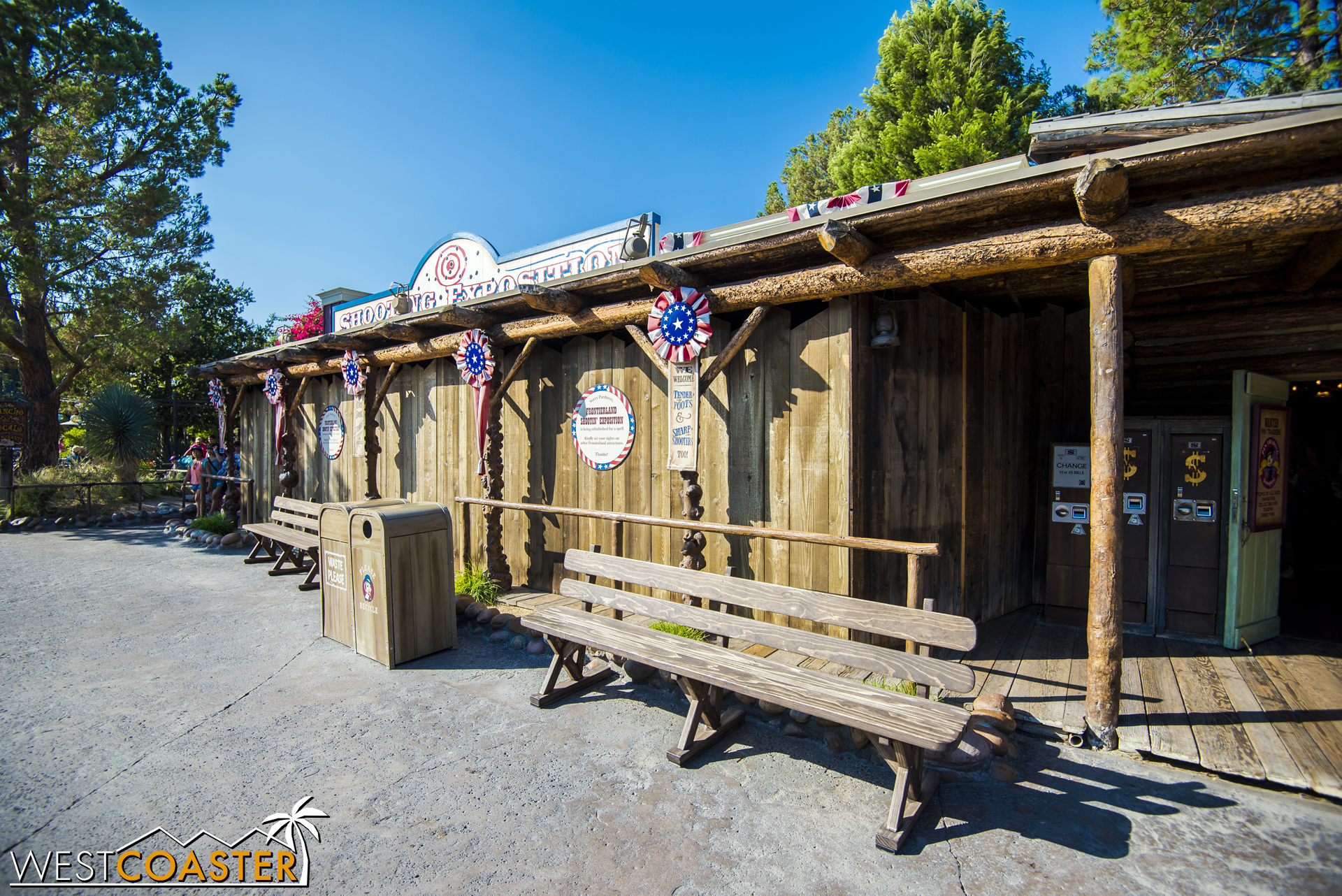 The Frontierland Shooting Gallery is currently closed for refurbishment.