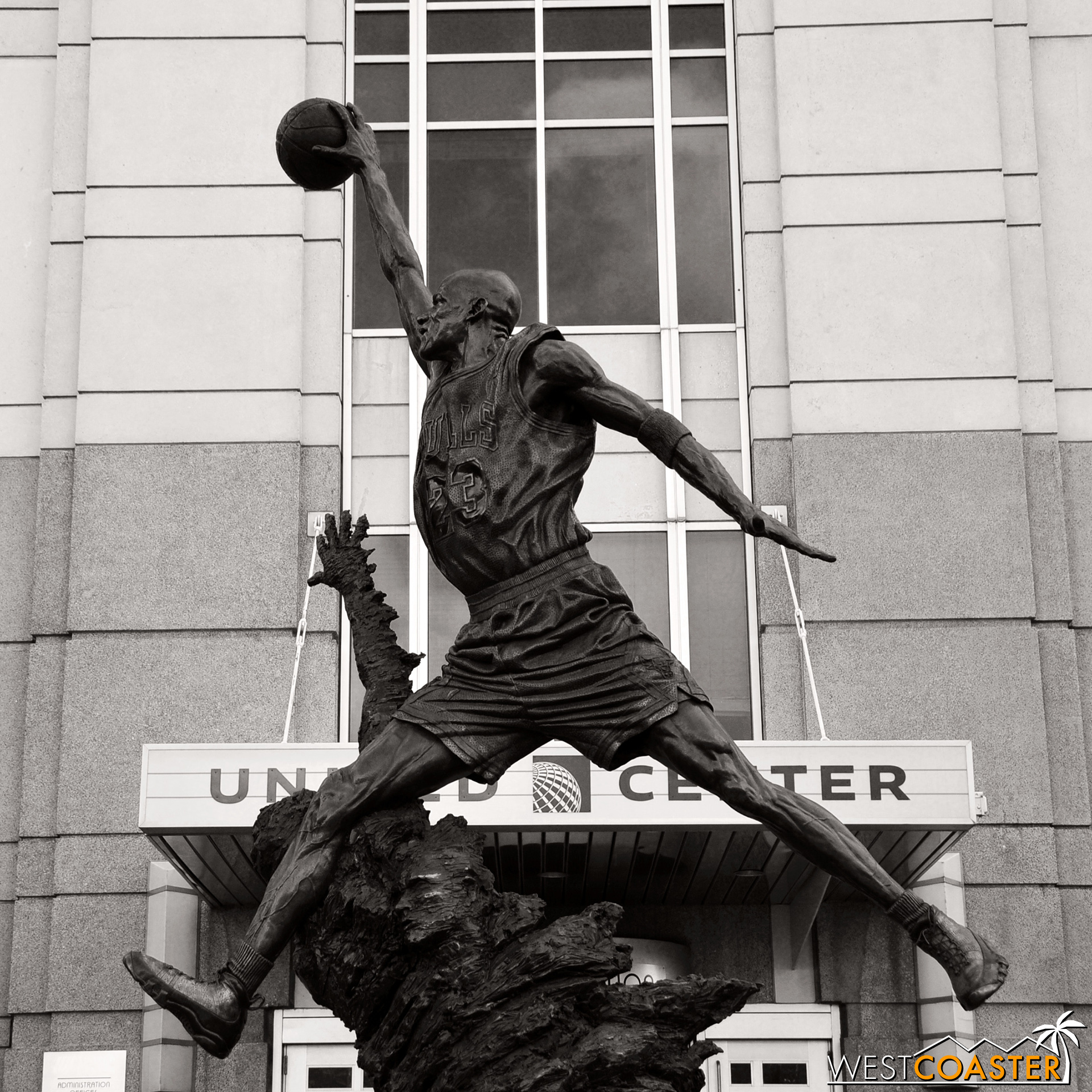 Those looking to take a picture with a statue of the Greatest Of All Time can head west to the home of the Chicago Bulls and Blackhawks: the United Center.