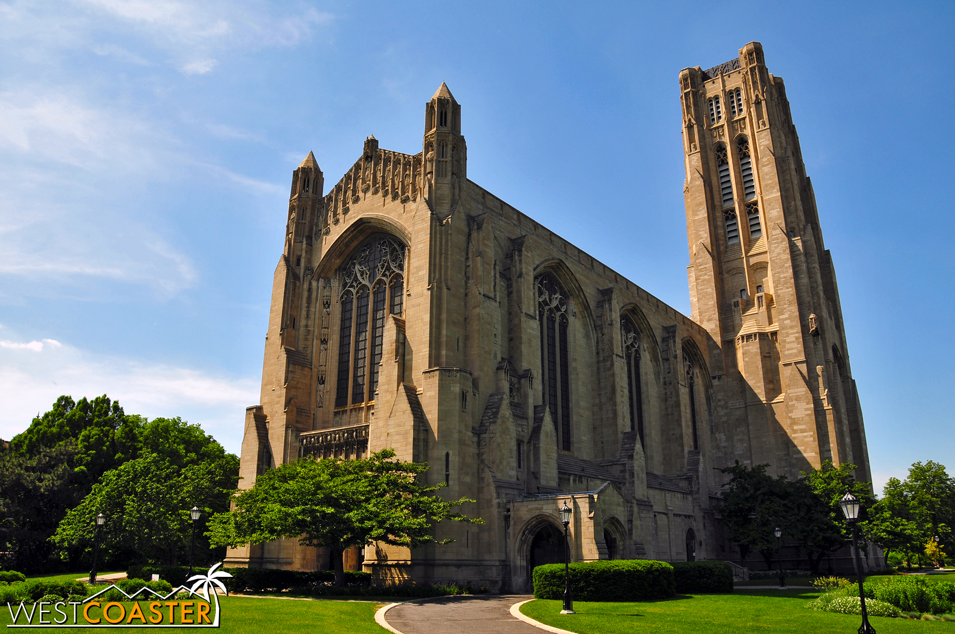 Rockefeller Memorial Chapel, at the University of Chicago, is a Gothic Revival style cathedral.