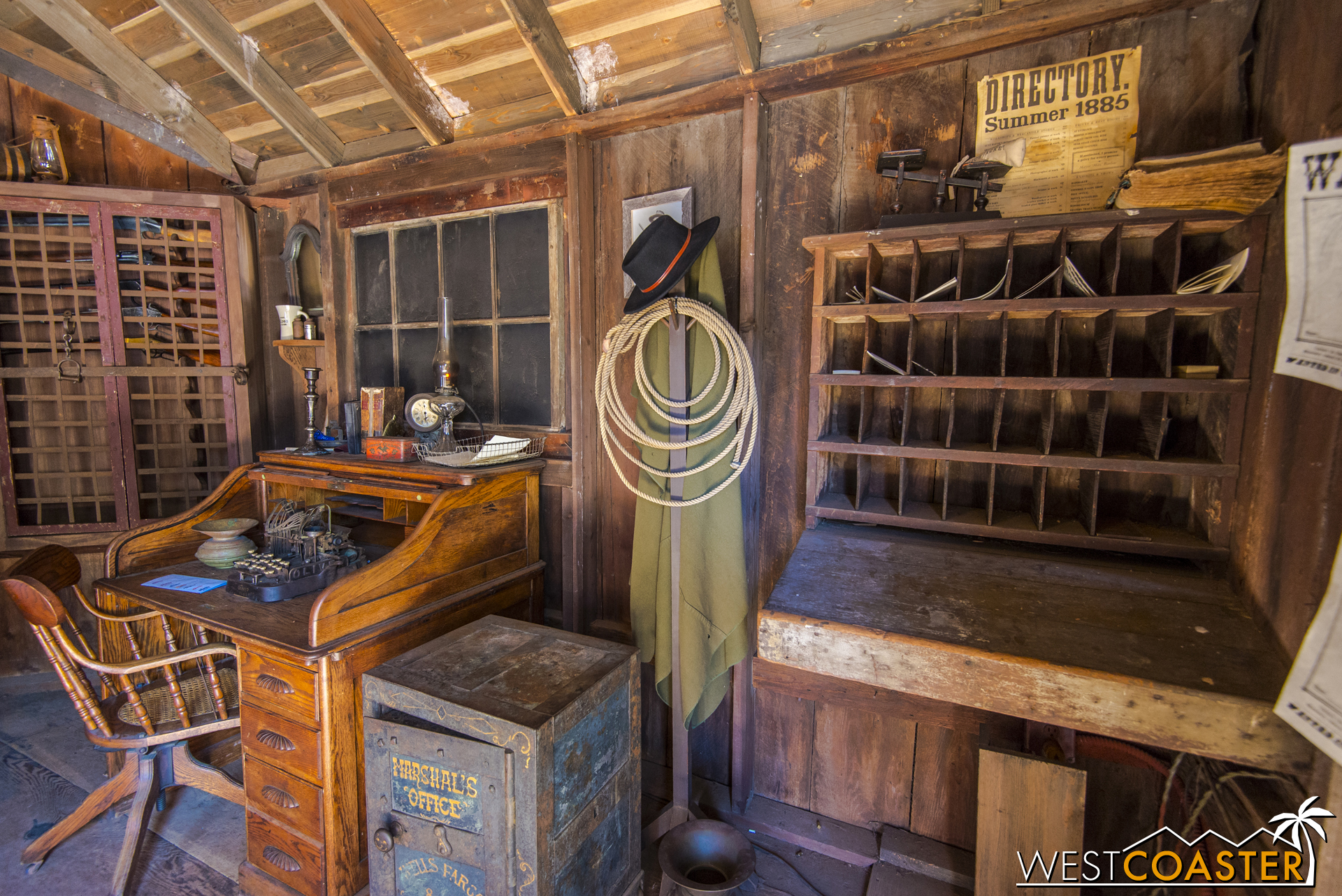 Inside, there are plenty of authentic props and furnishings to inspect.