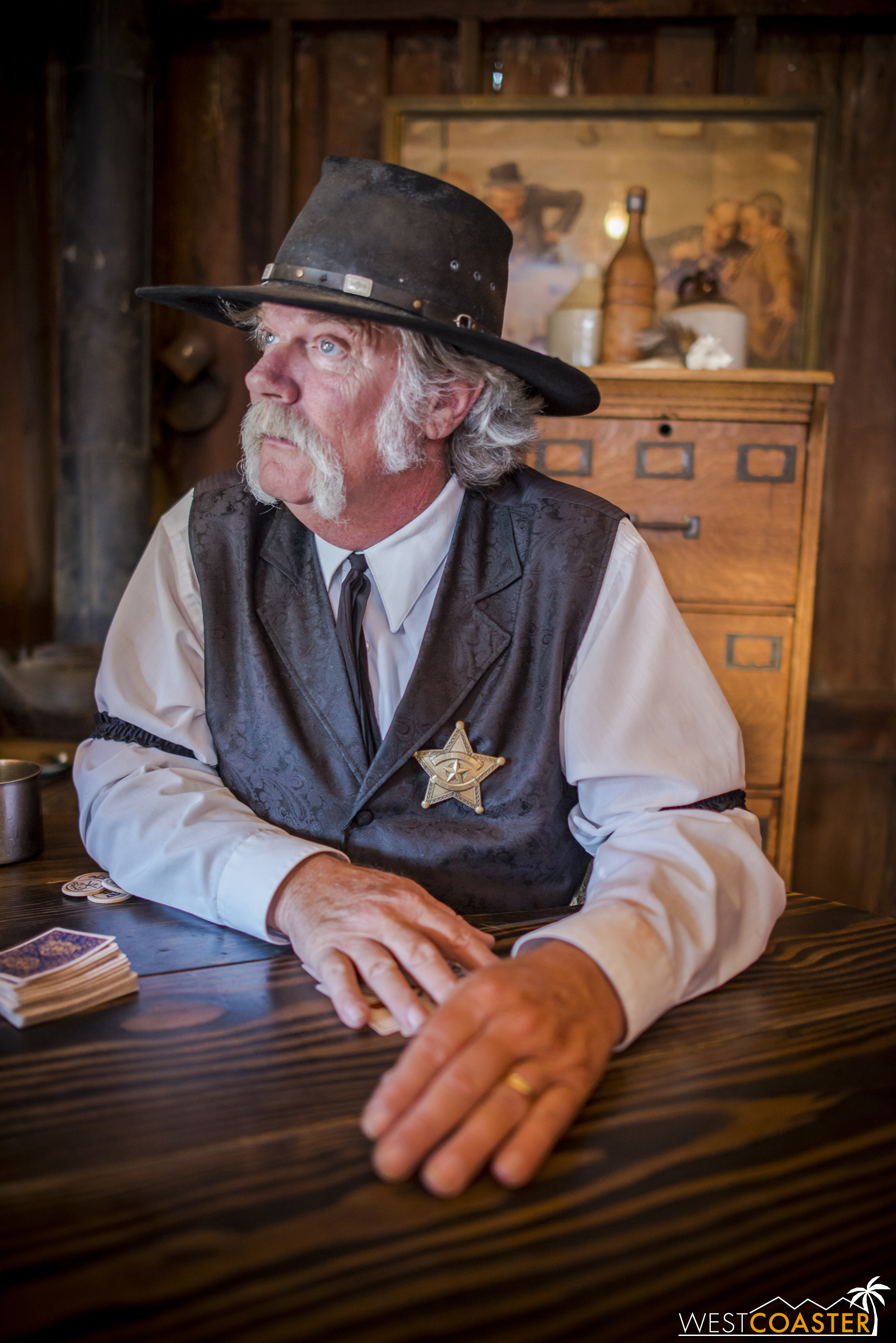But then some honorary deputies run in and warn Sheriff Wheeler of incoming trouble in the form of the rabble-rousing Mayfields.
