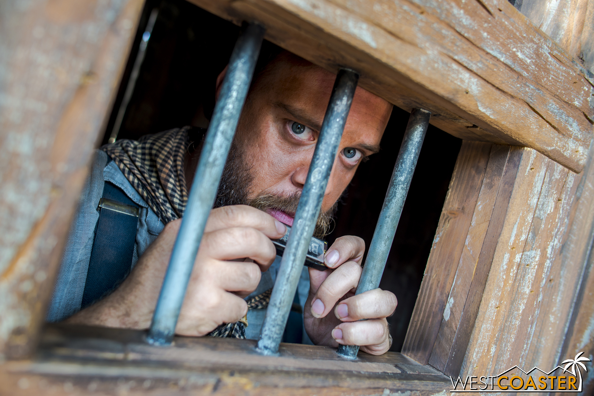 In the afternoon, guests will find Tiny Mayfield captured inside, prisoner after confessing to be solely responsible for the robberies of the Assayer's Office and the Bank earlier in the day.